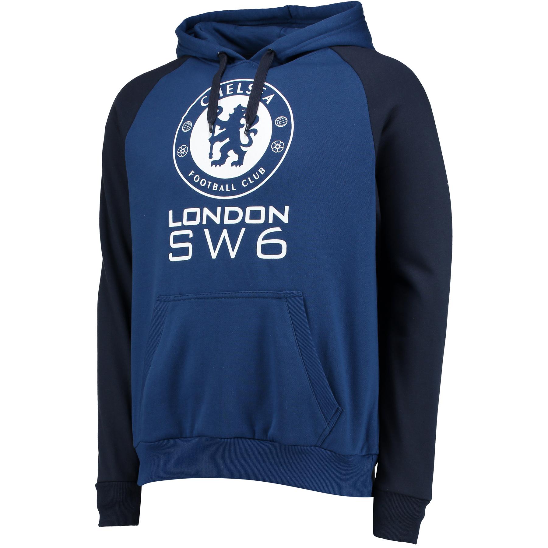 Chelsea Essential SW6 Hoodie - Estate Blue - Mens