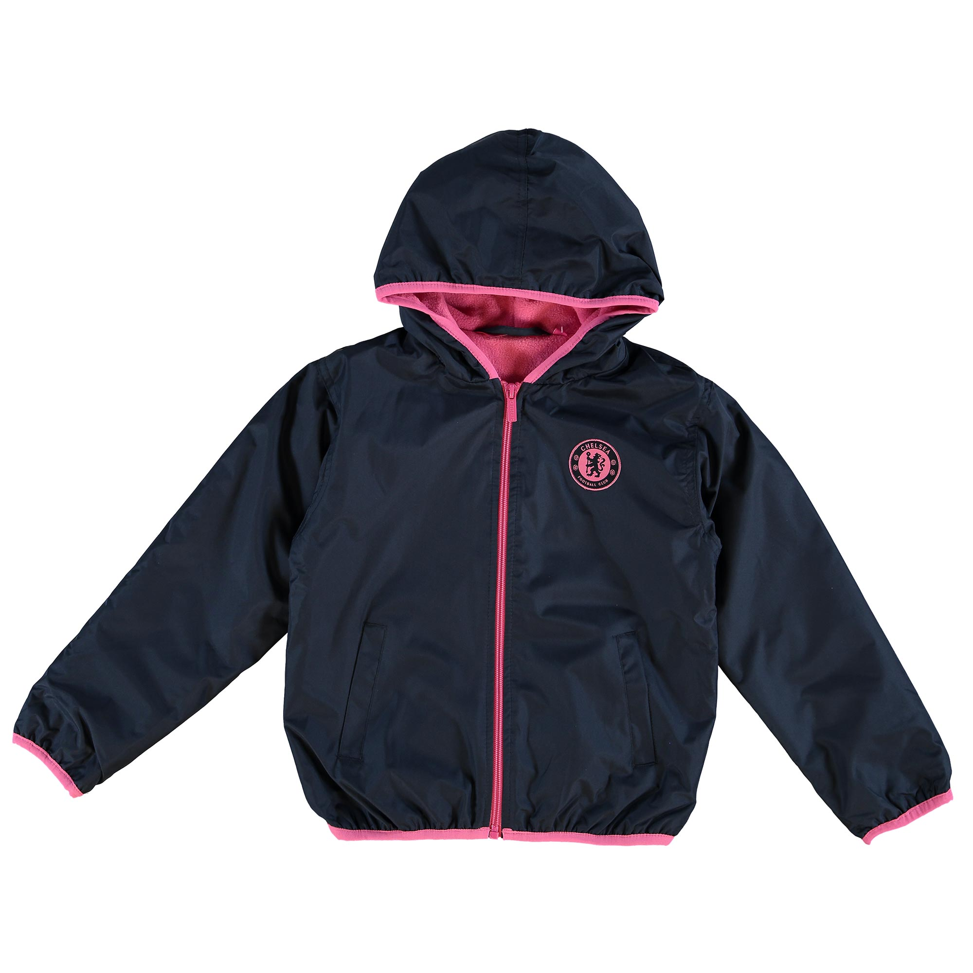 Chelsea Fleece Lined Shower Jacket - Navy - Girls