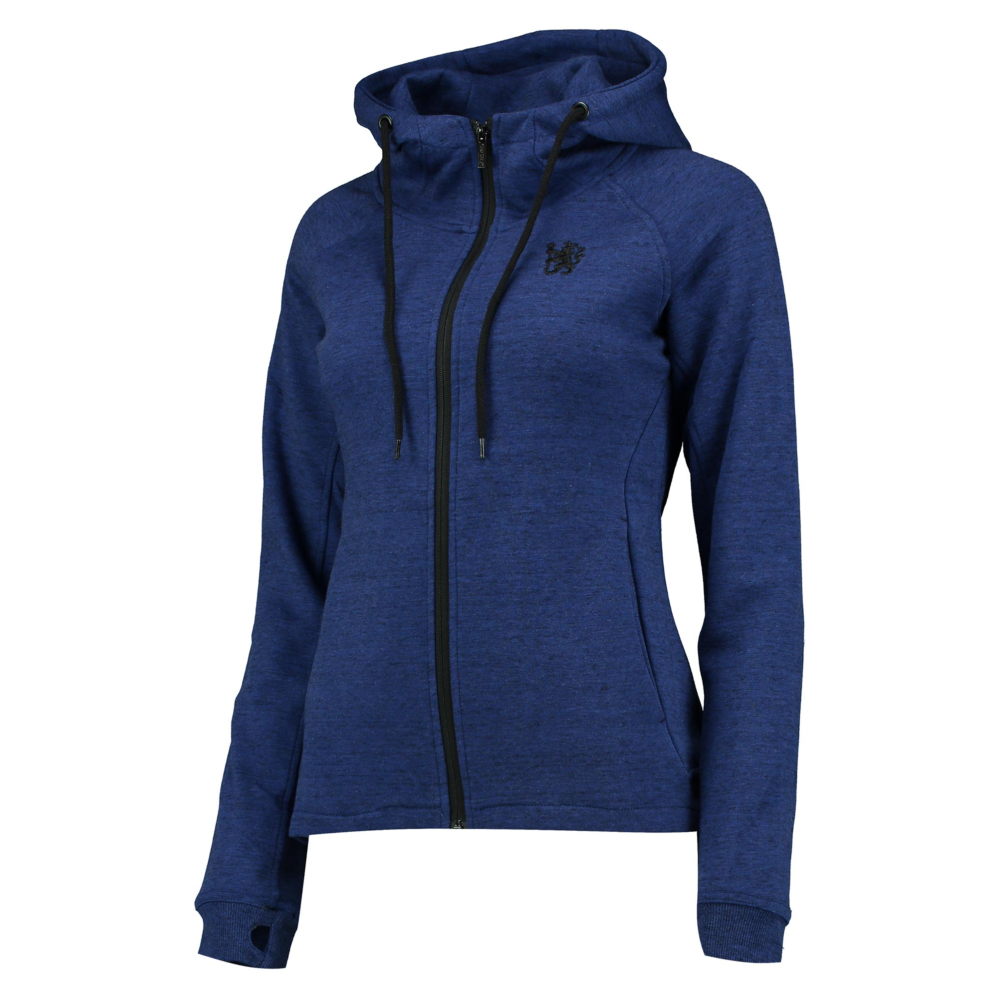 Chelsea Zip Through Hoodie - Royal/Black Marl - Womens