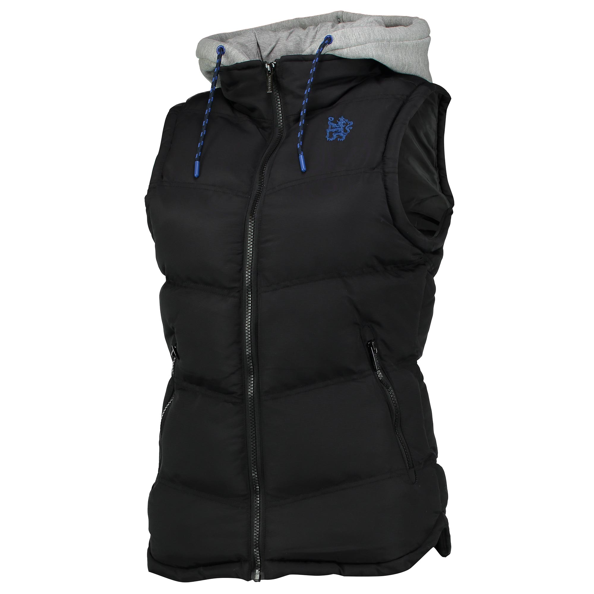 Chelsea Hooded Gilet - Black - Womens