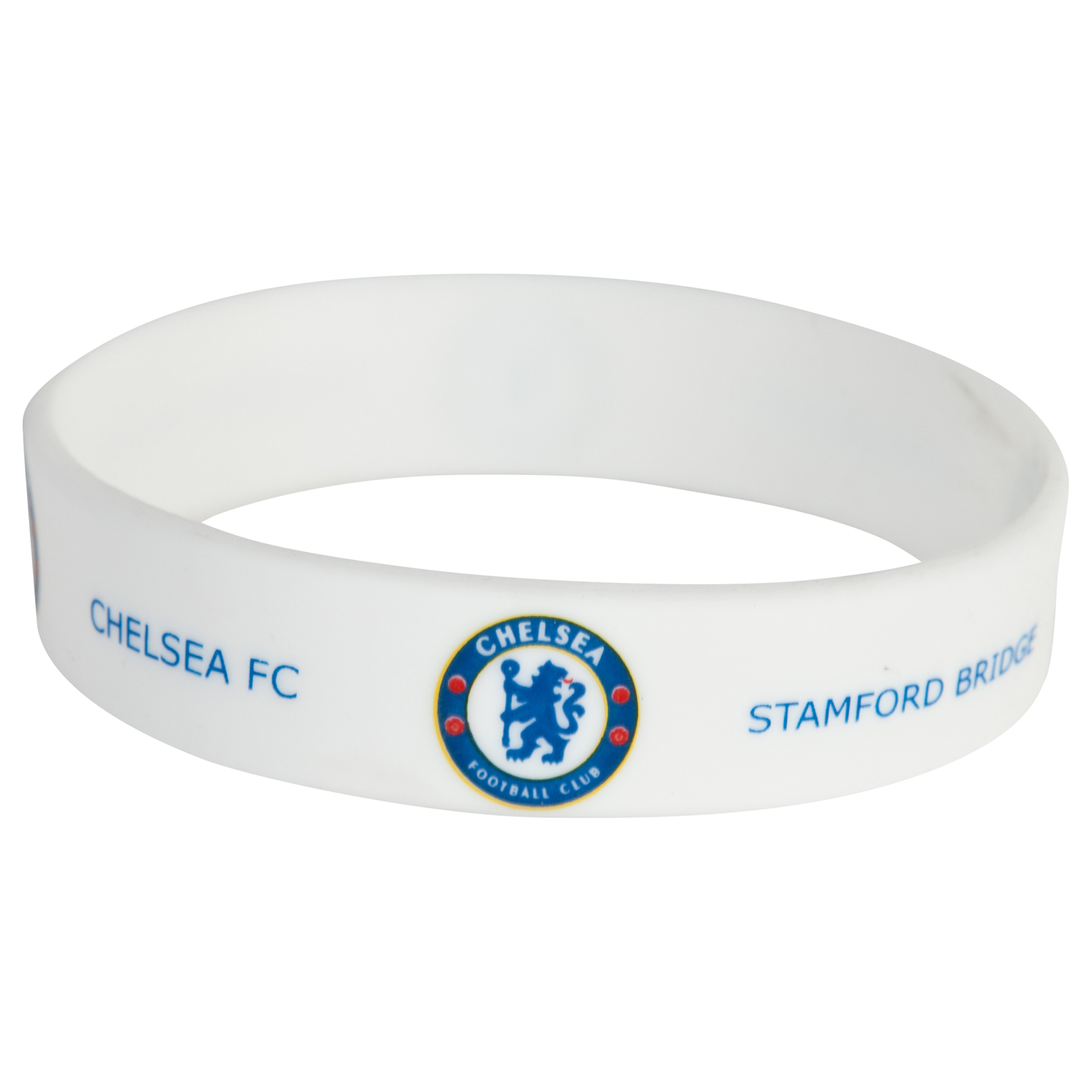 Chelsea Rubber Wristband - White - 12mm Width