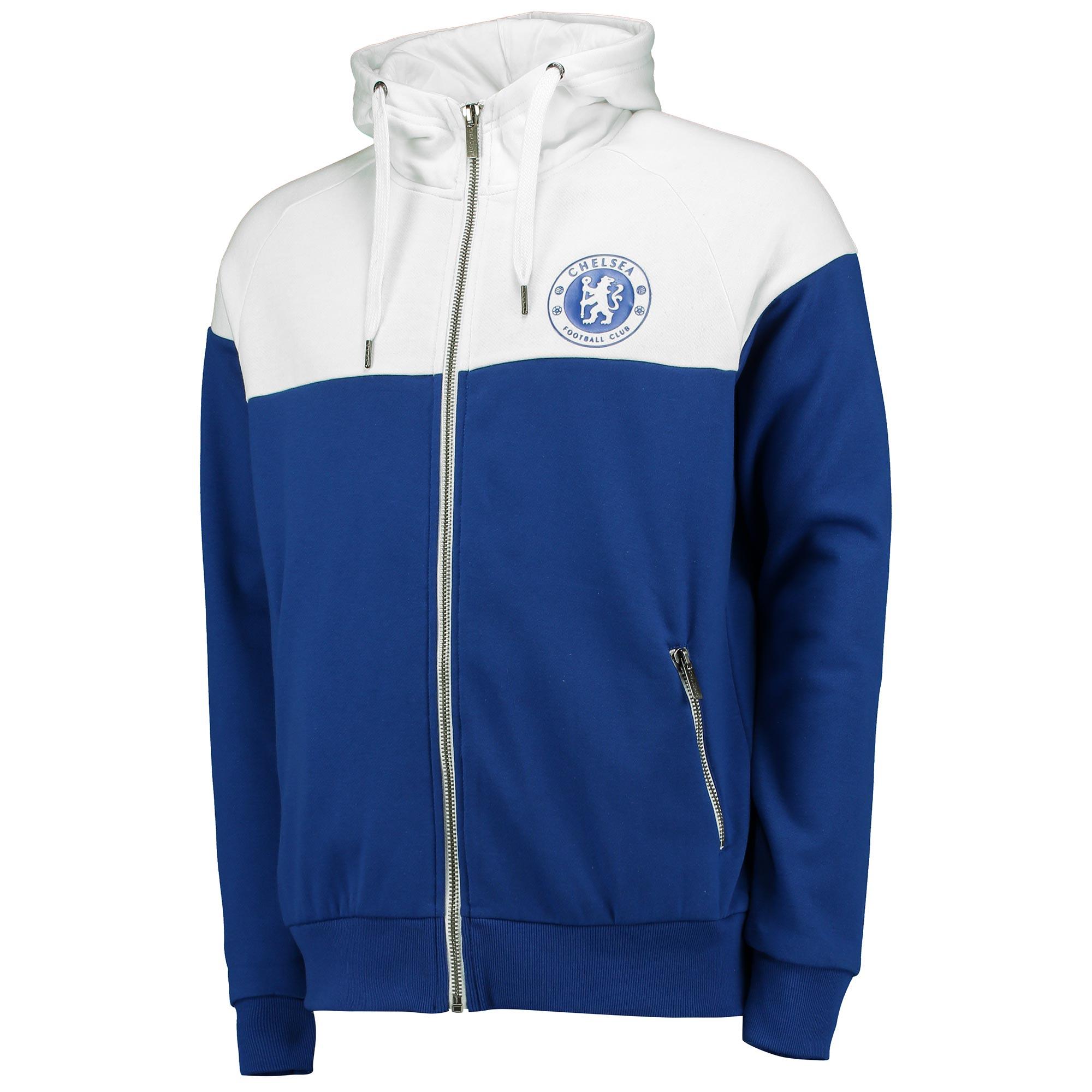Chelsea Essential Full Zip Hoodie - Royal/White - Mens