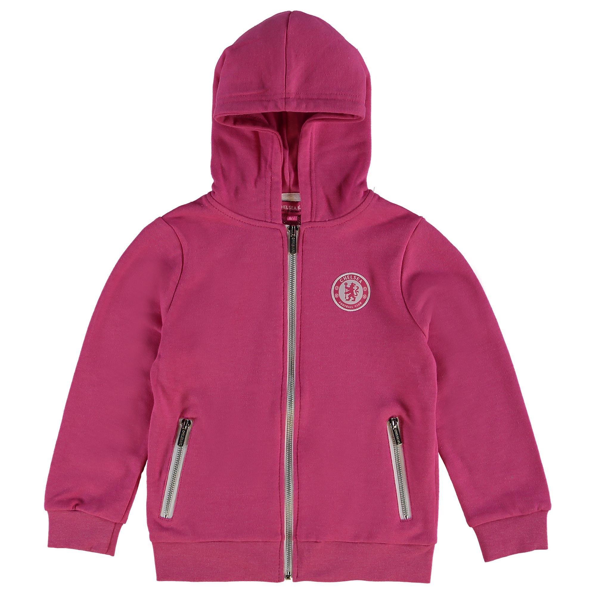 Chelsea Full Zip Fleece Hoodie - Pink - Infant Girls