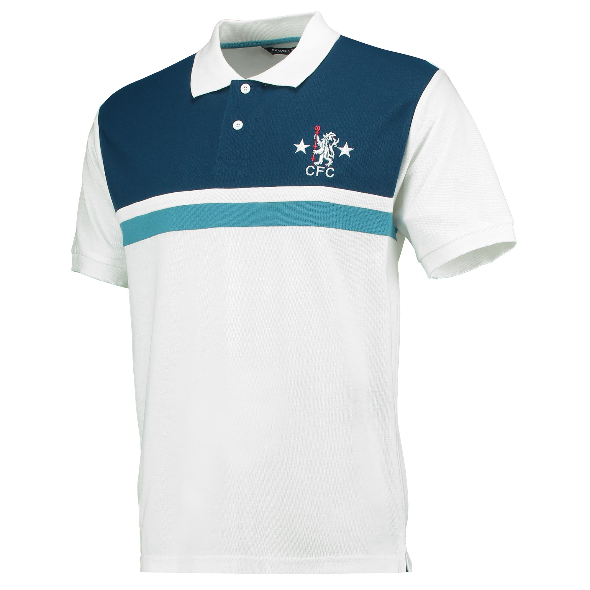 Chelsea Retro Cut & Sew Polo Shirt - White - Mens