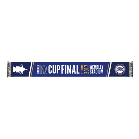 Chelsea Road To Wembley FA Cup Final Scarf -Navy - Adult