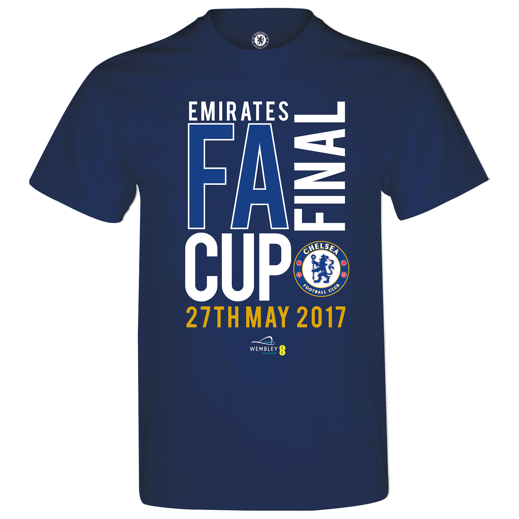 Chelsea Road To Wembley FA Cup Final T-Shirt - Navy - Boys