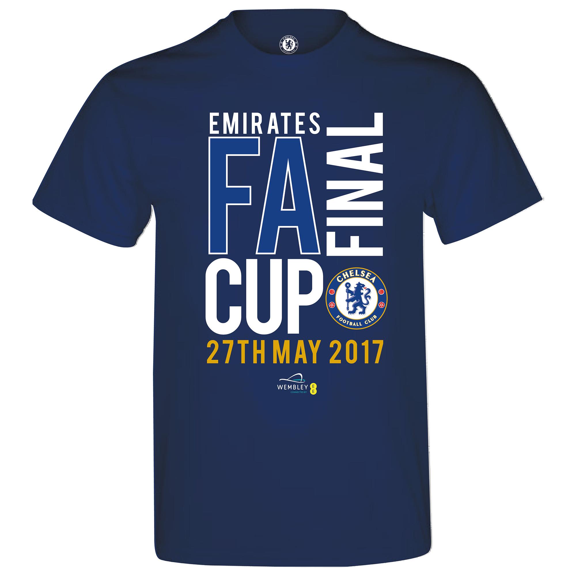 Chelsea Road To Wembley FA Cup Final T-Shirt - Navy - Mens