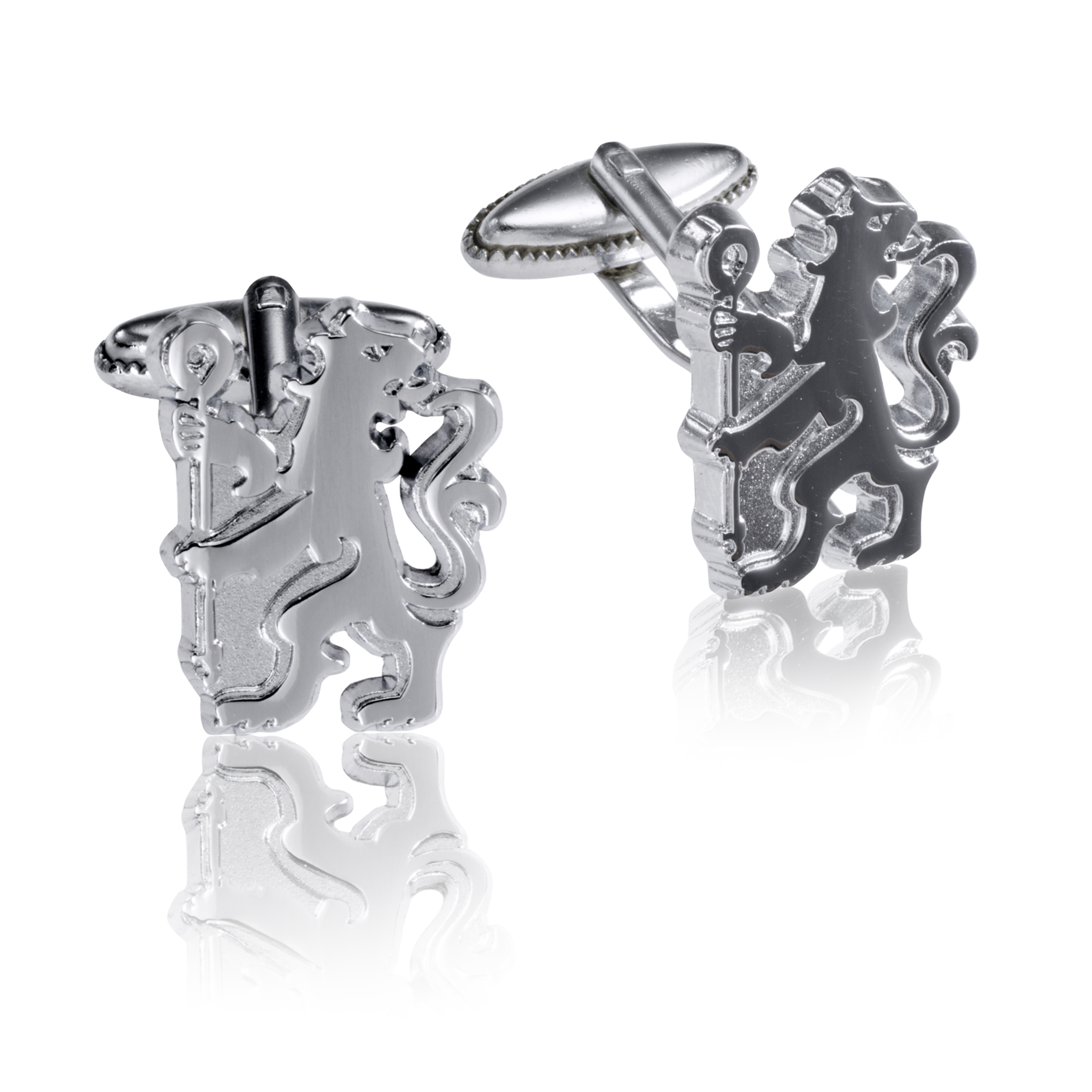 Chelsea Lion Chrome Cufflinks