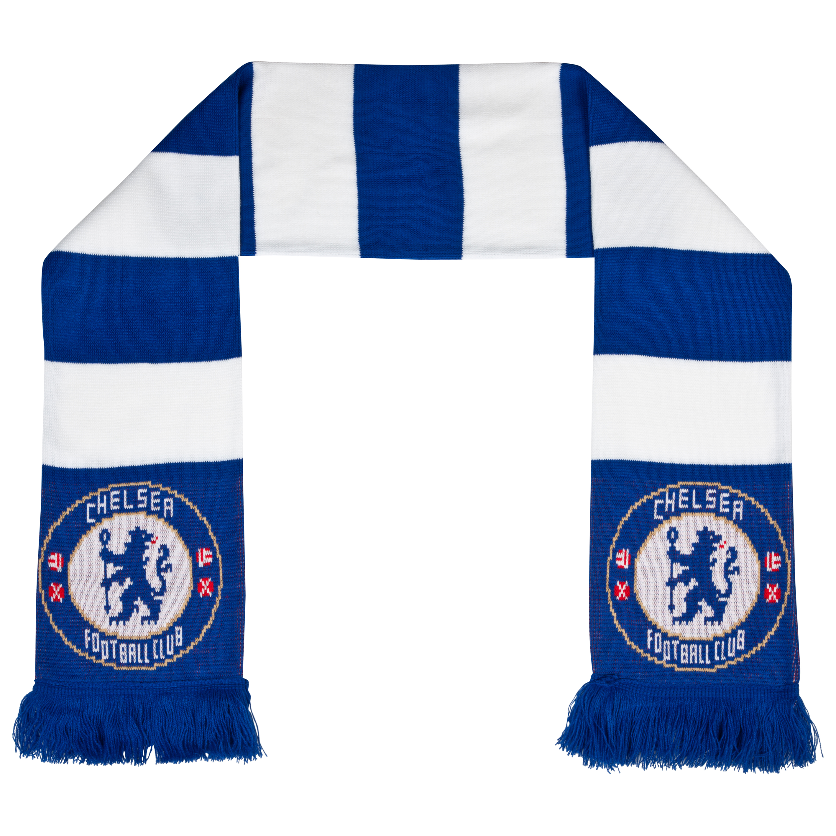 Chelsea Bar Scarf - Blue/White