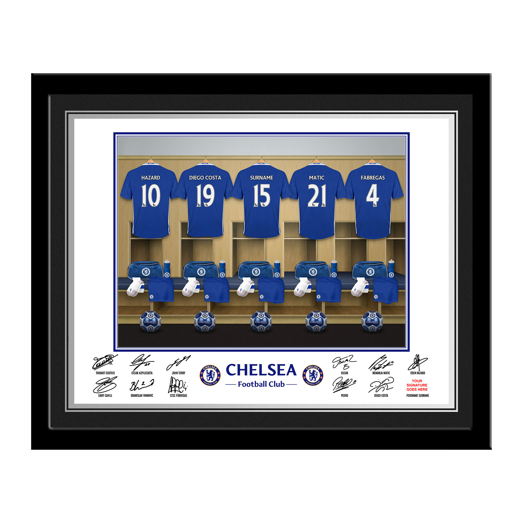 Chelsea Personalised Dressing Room Photo Framed