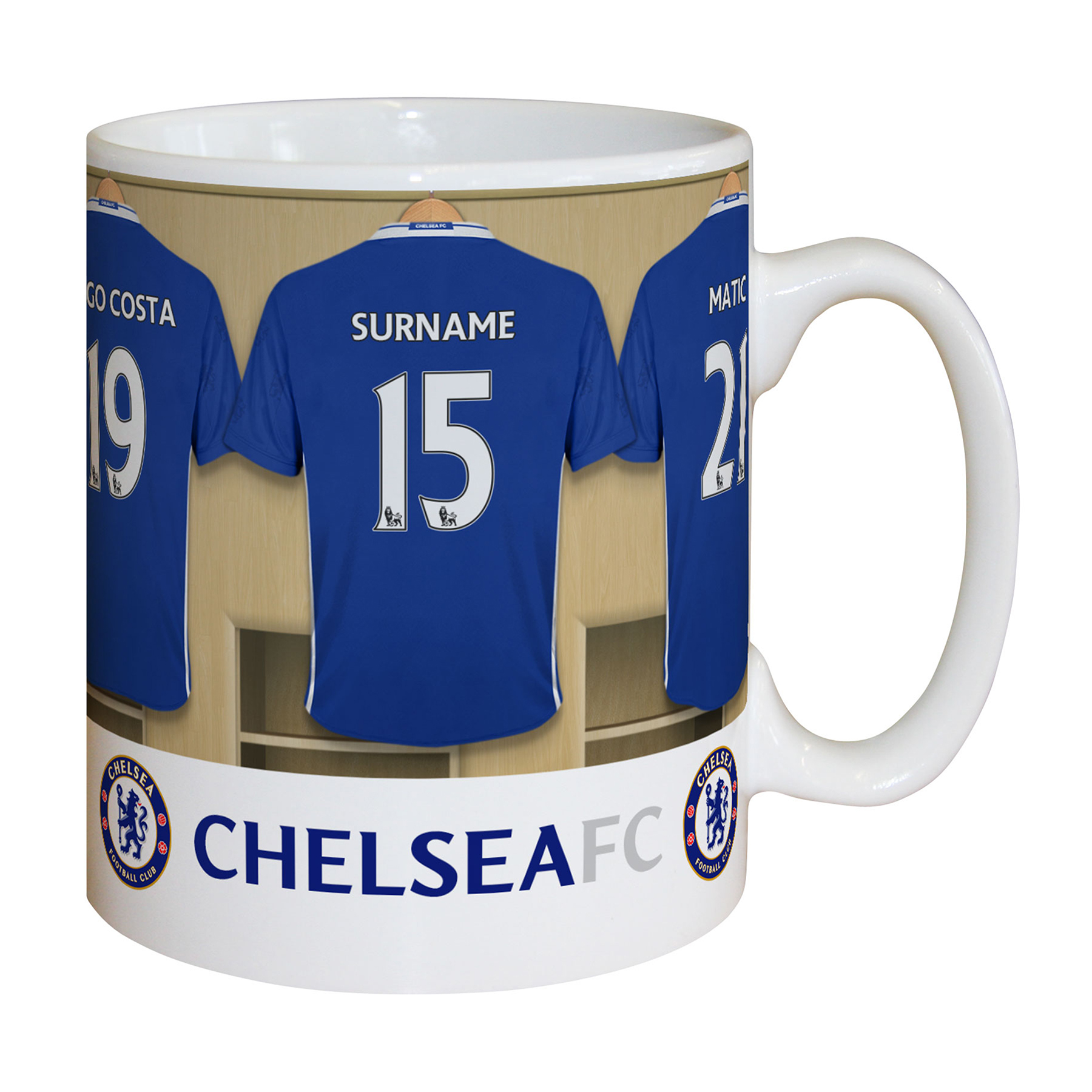 Chelsea Personalised Dressing Room Mug