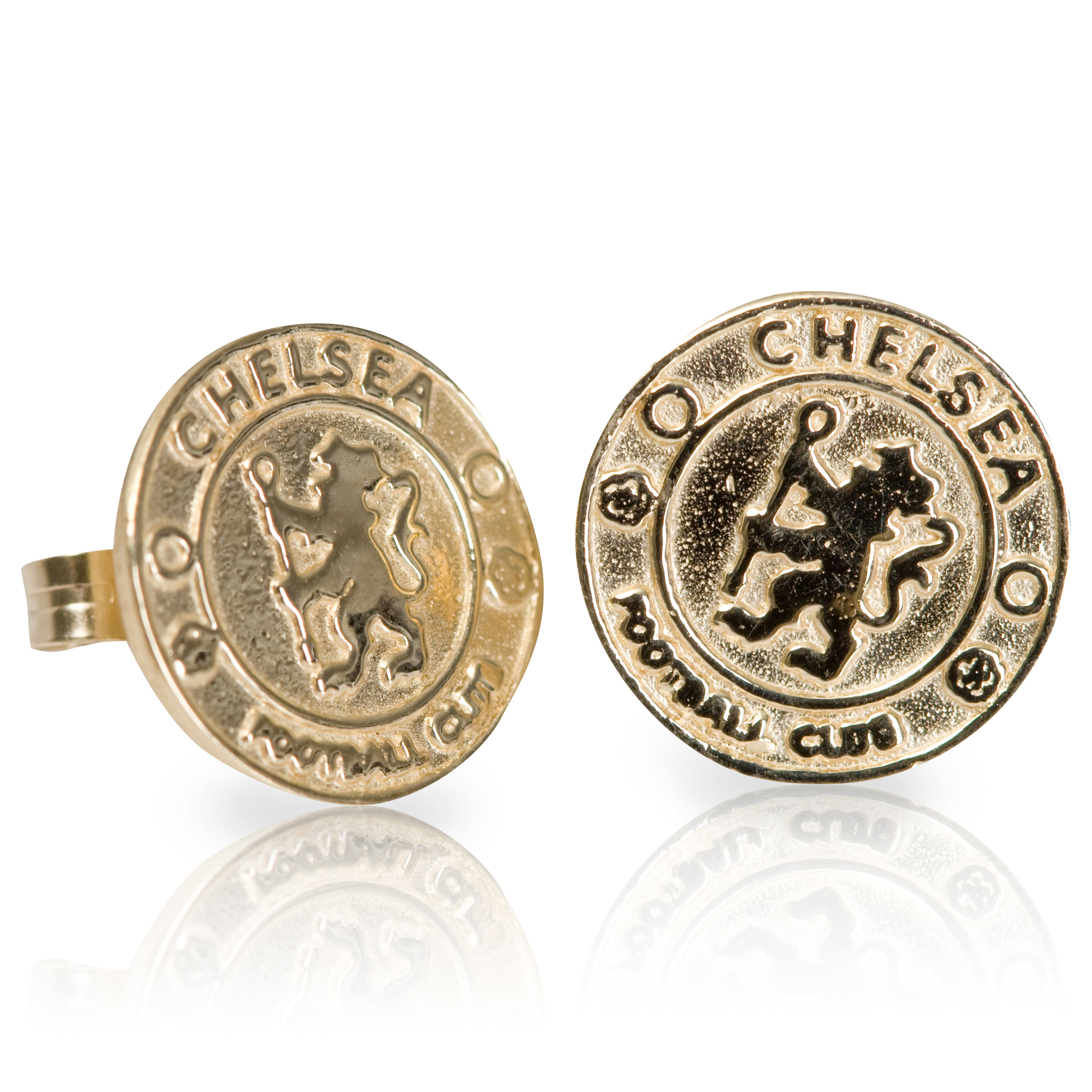 Chelsea Crest Stud Earrings 9ct Gold - Pair