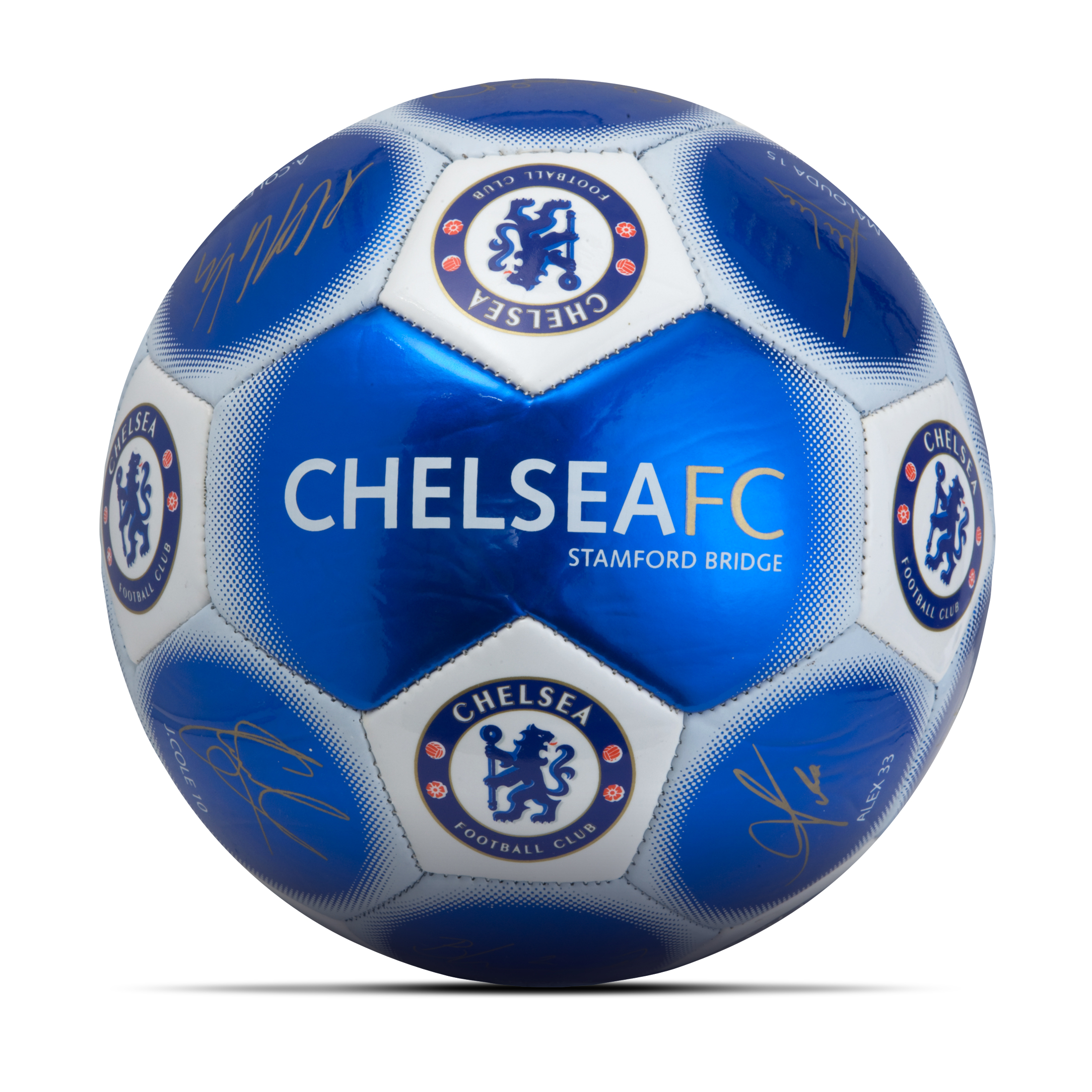 Chelsea Signature Football - Metallic Blue - Size 5