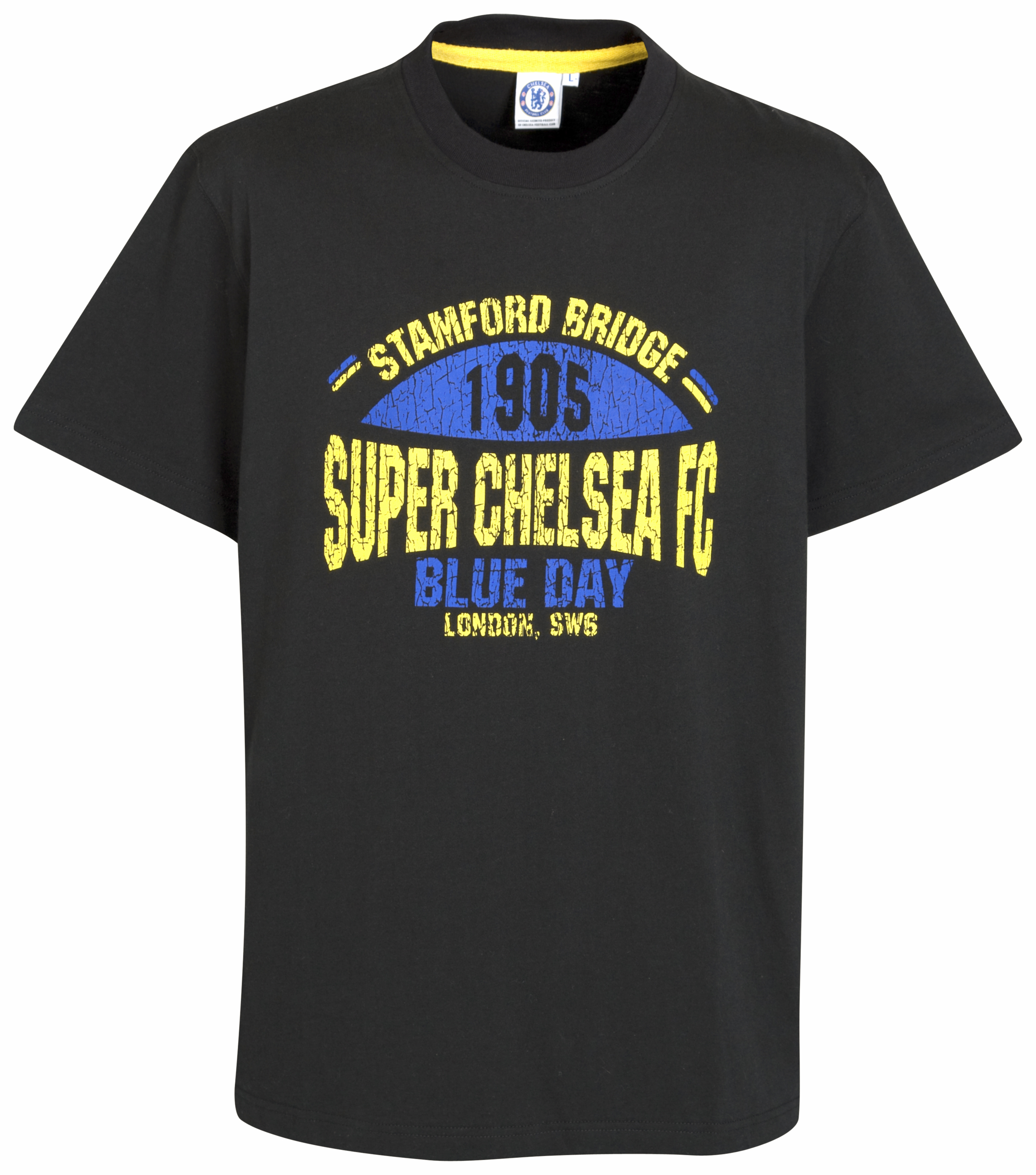 Chelsea Super Chelsea retro Graphic T Shirt Black