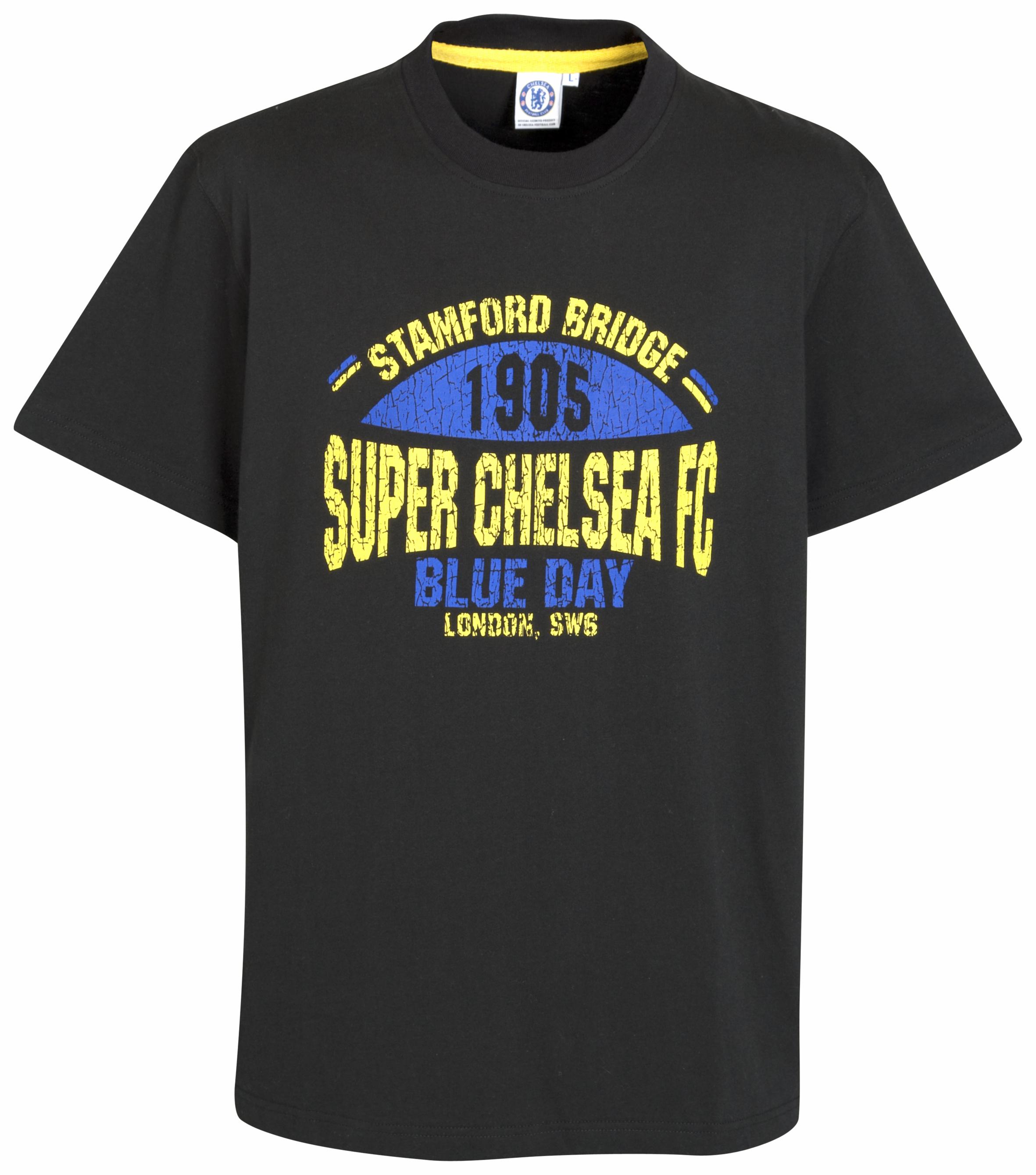Chelsea Super Chelsea retro Graphic T Shirt Black