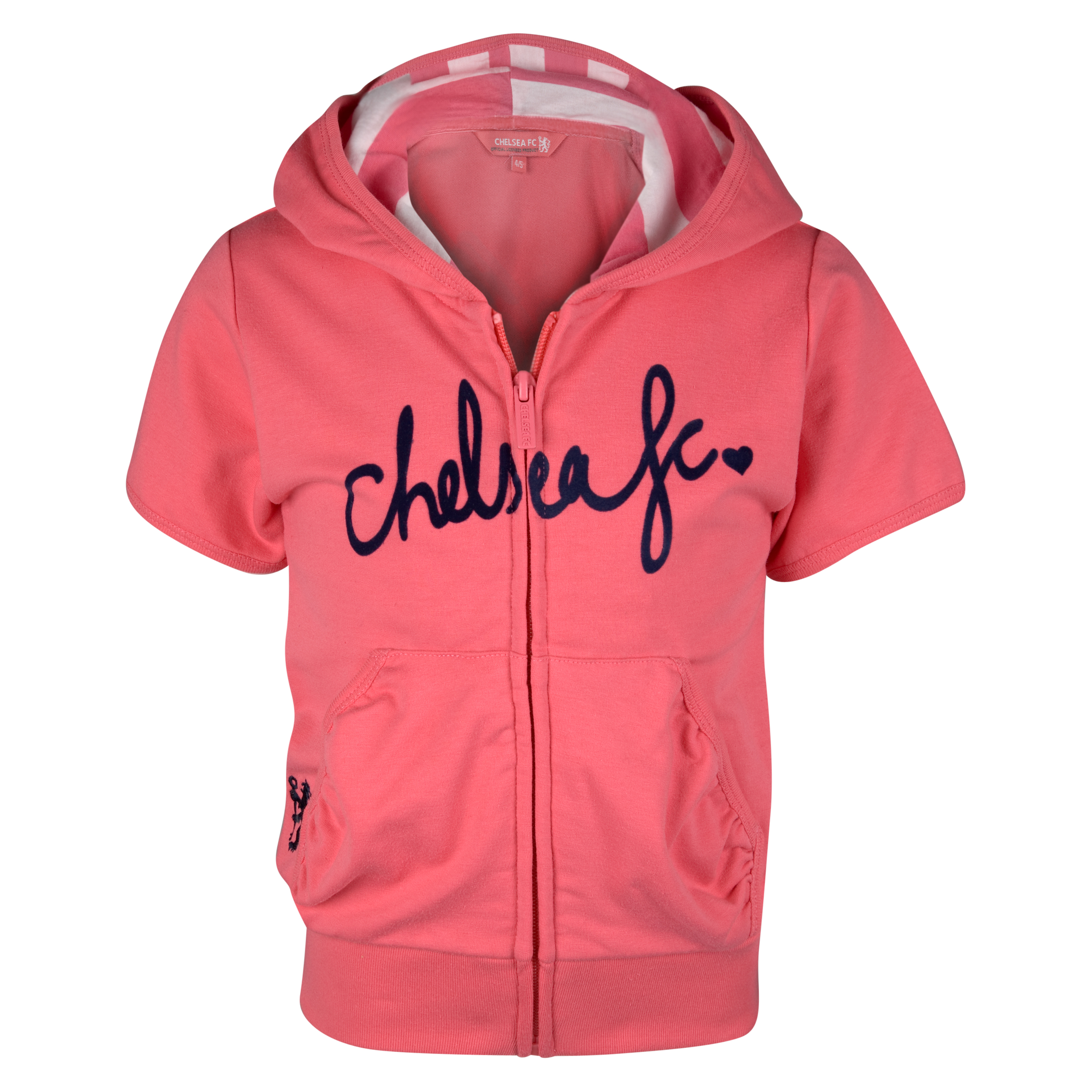 Chelsea Short Sleeve Hoodie - Infant Girls - Hot Coral