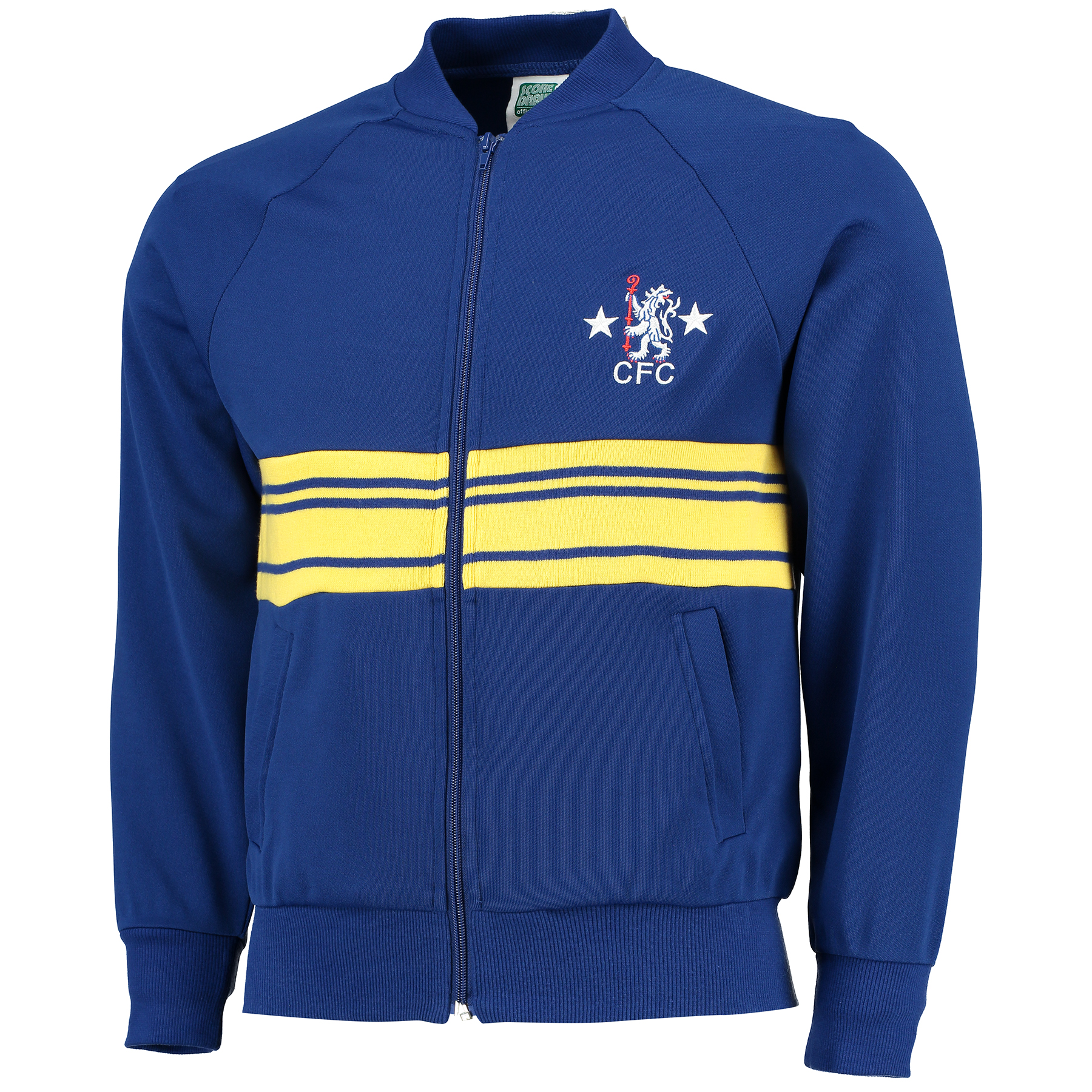 Chelsea 1984 Track Jacket - Royal/Yellow