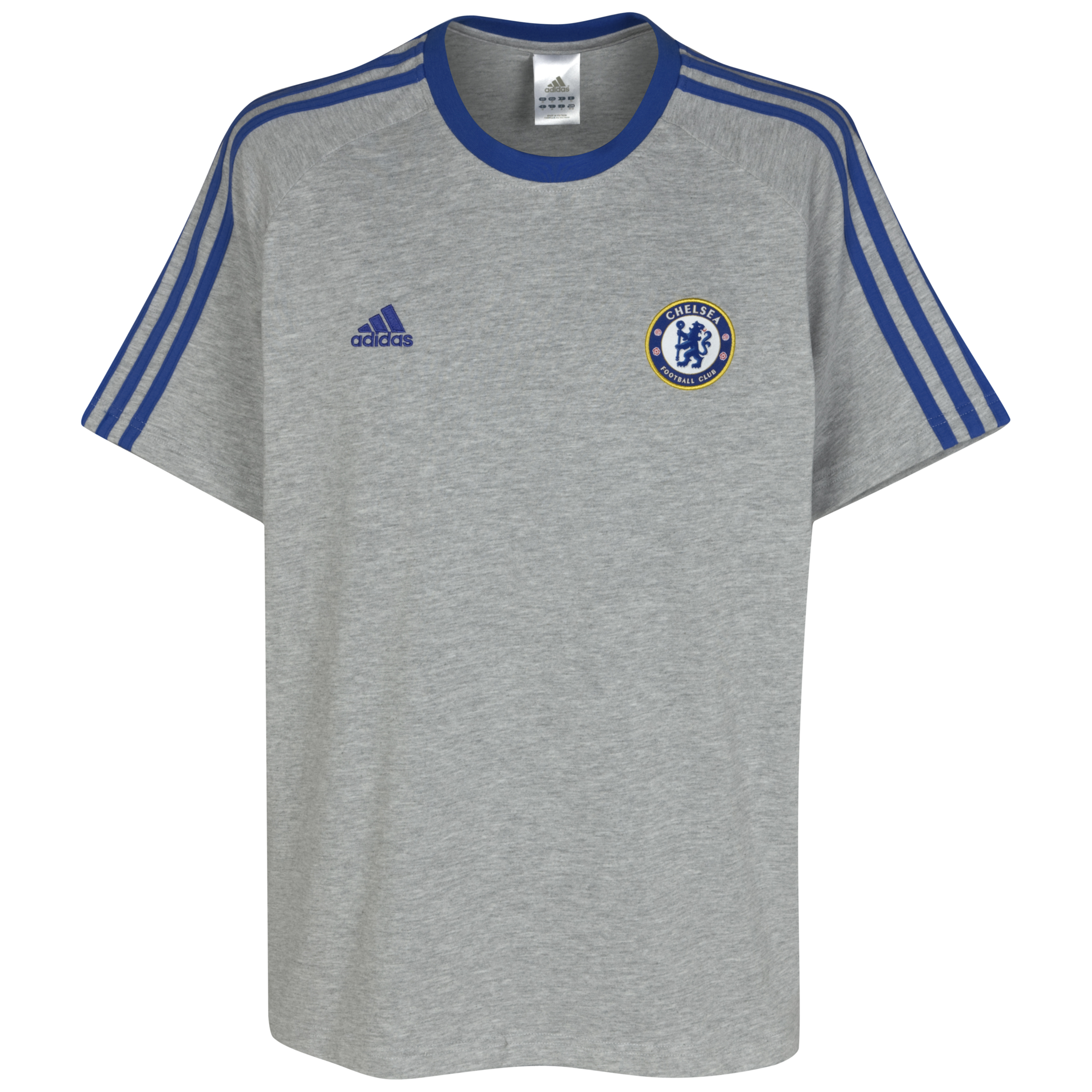 adidas Chelsea Core T-Shirt - Kids - Medium Grey Heather/Cfc Reflex Blue