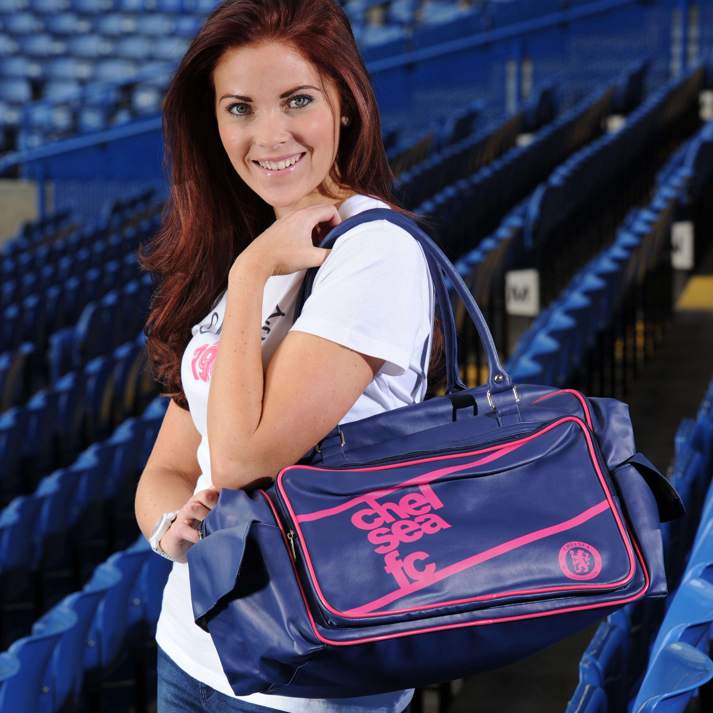 Chelsea Ladies Holdall - Navy/Hot Pink