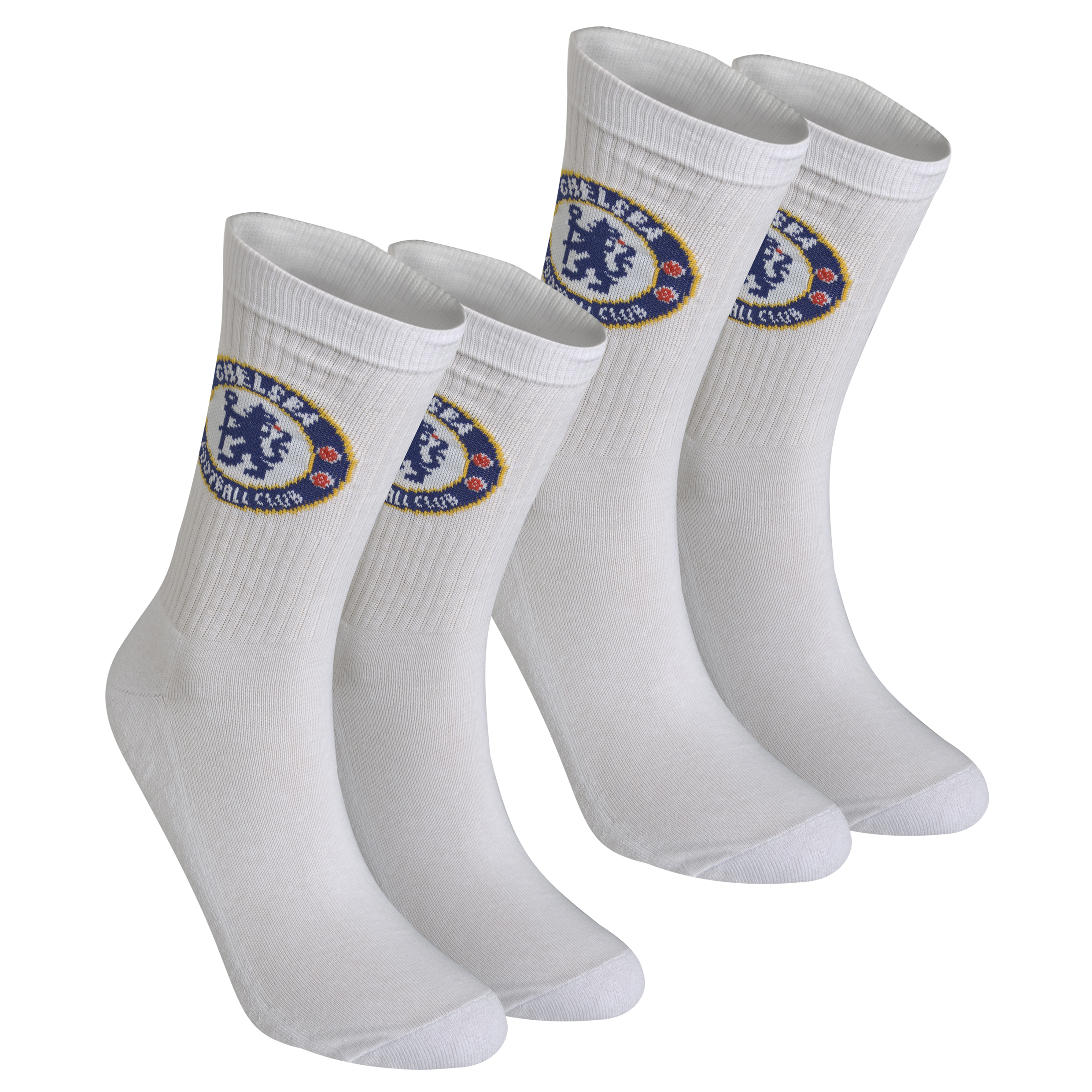 Chelsea 2 Pack Sports Socks - White - Boys