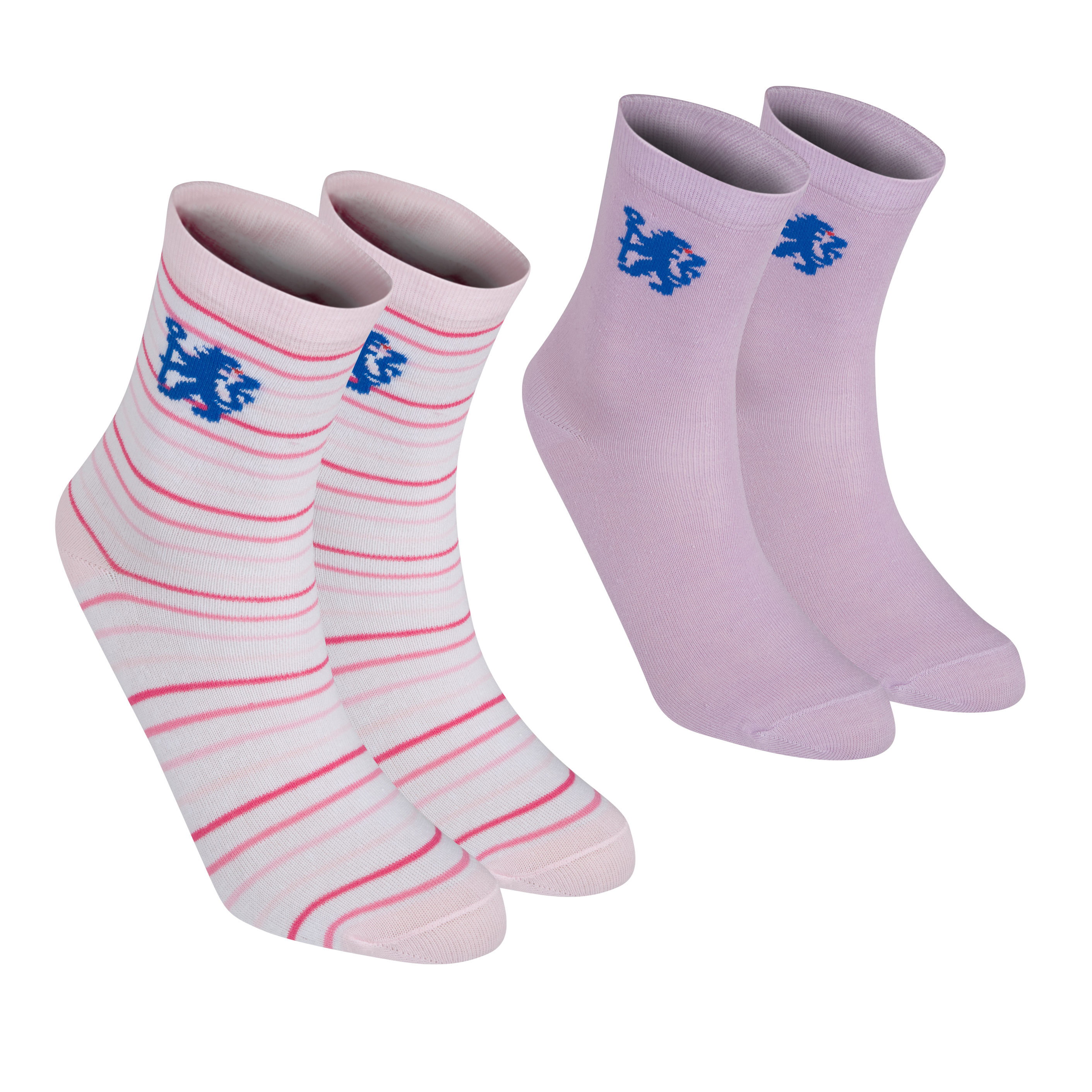Chelsea 2 Pack Socks - Girls - Pink