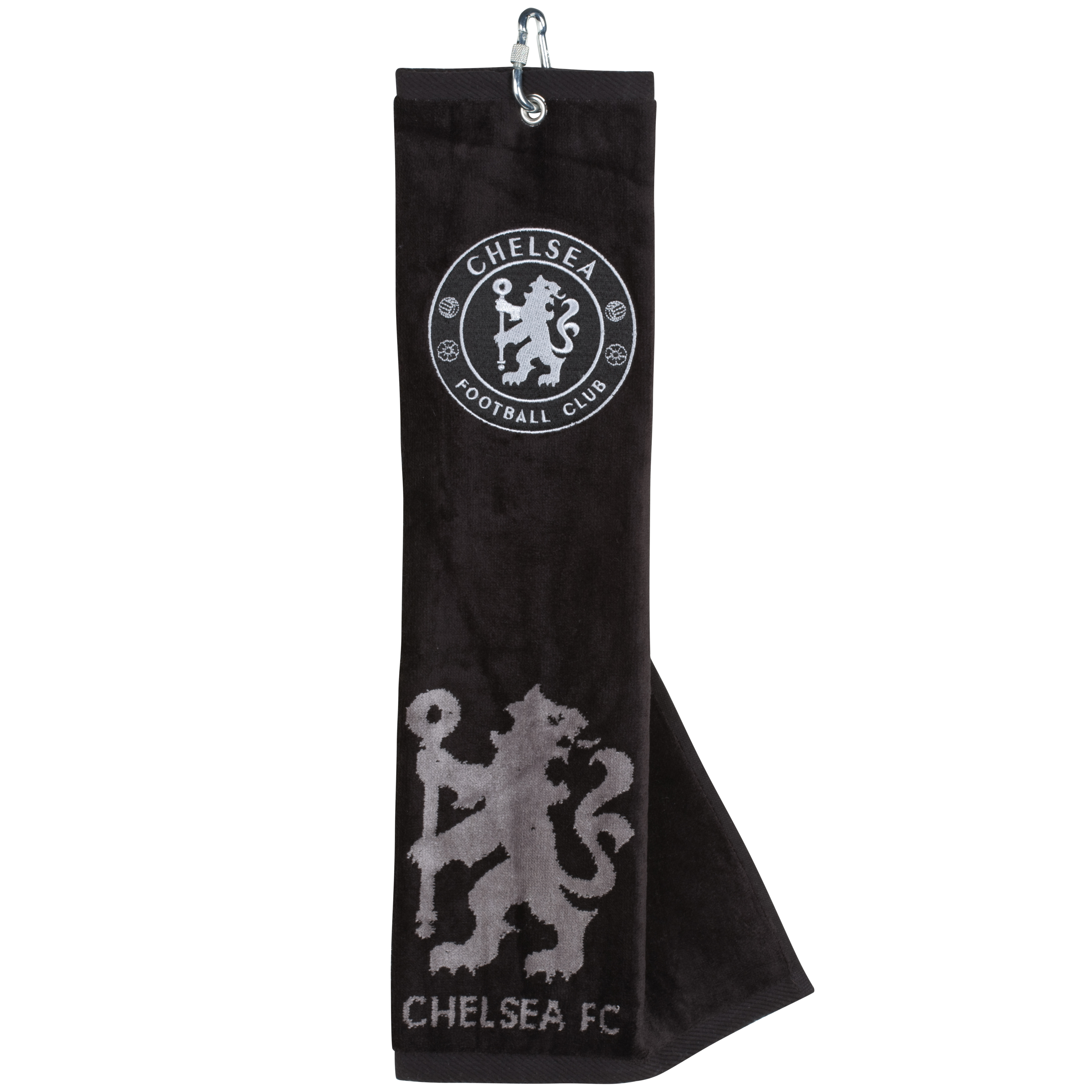 Chelsea Tri-Fold Towel - Black/Silver