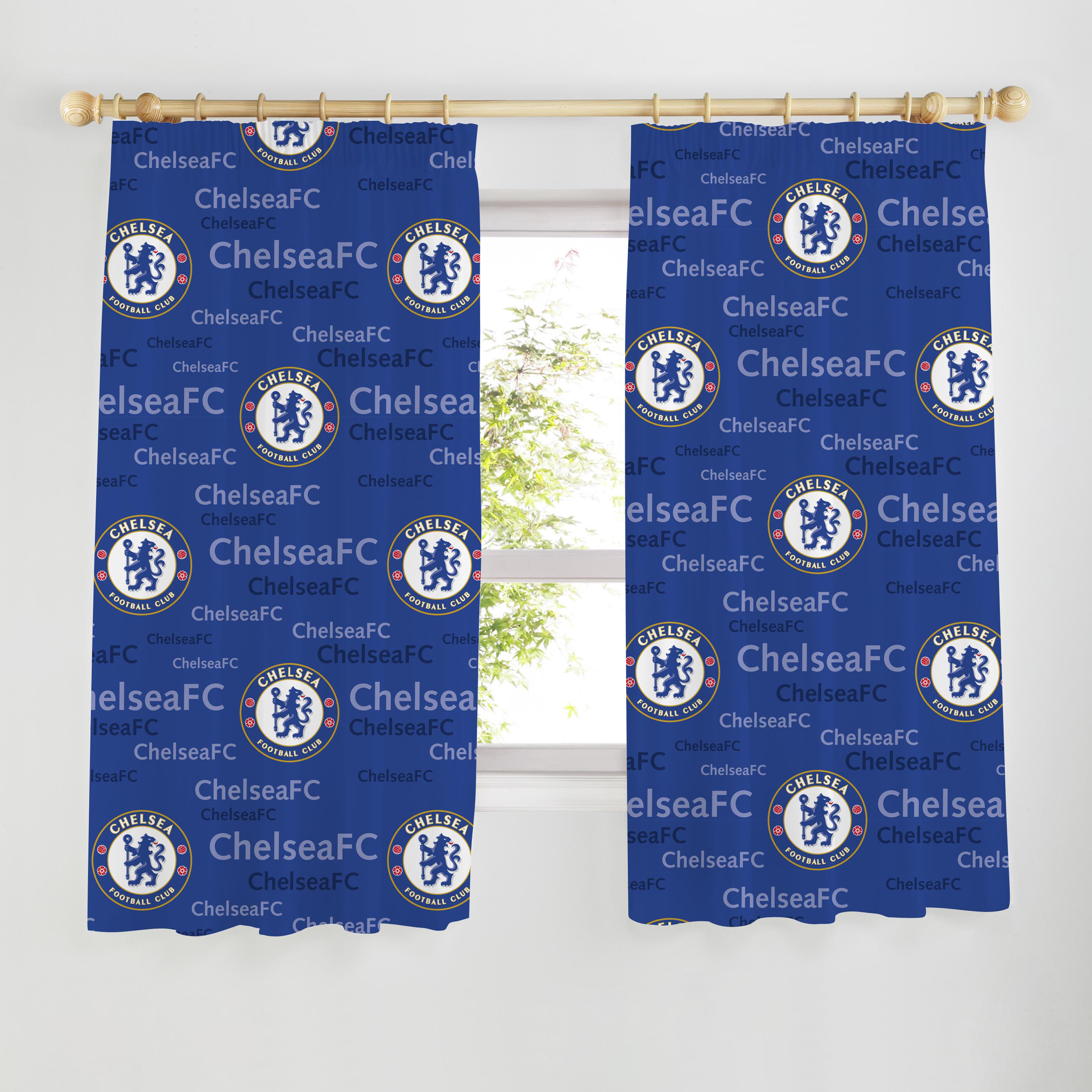 Chelsea Crest Curtains - 72 inches