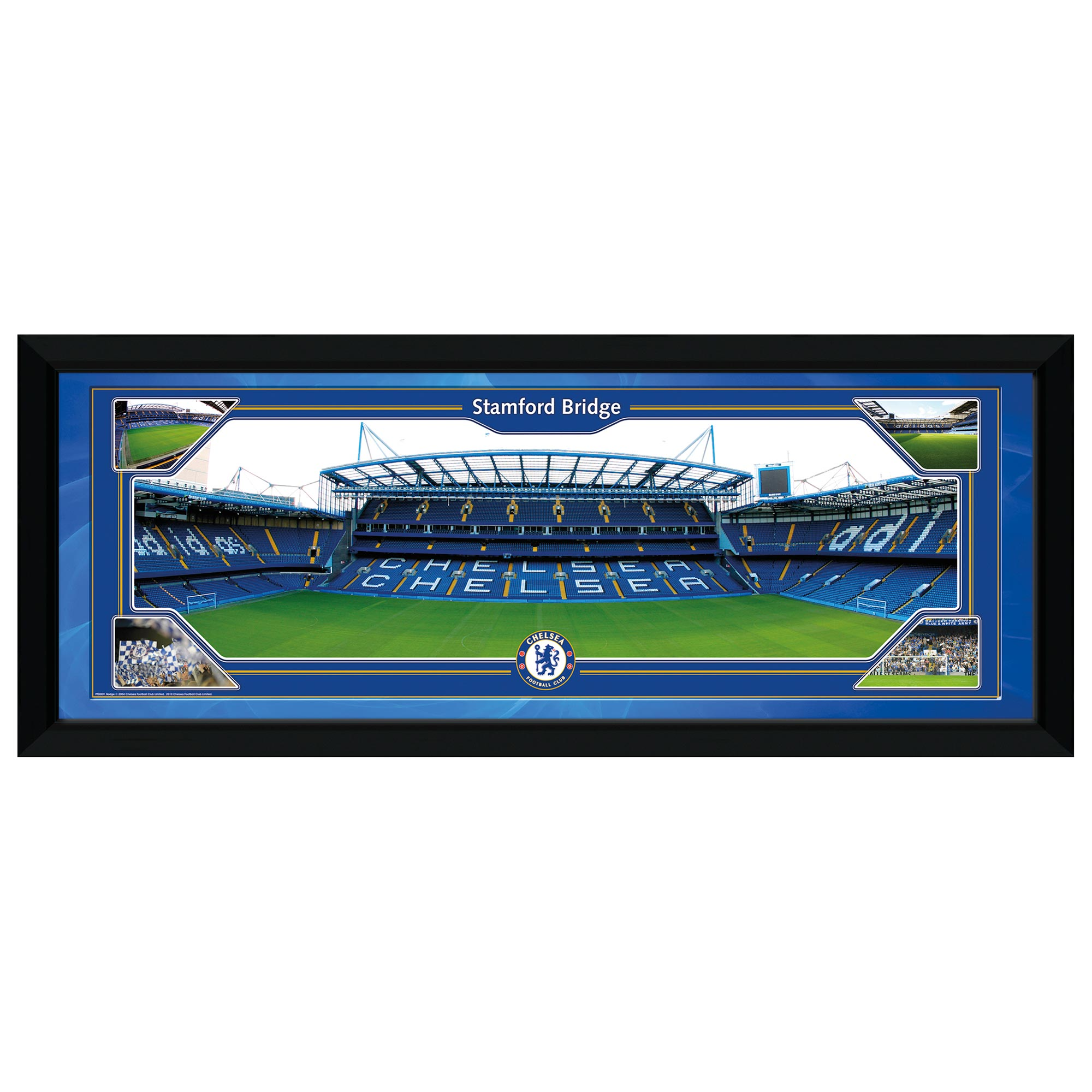 Chelsea Stamford Bridge Framed Print - 30 x 12 inches