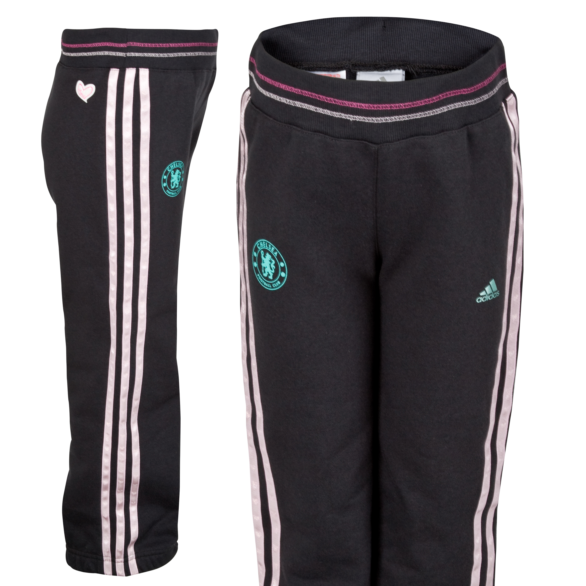 adidas Chelsea Sweat Pant - Solid Grey F11/Fresh Candy S11 - Infant Girls