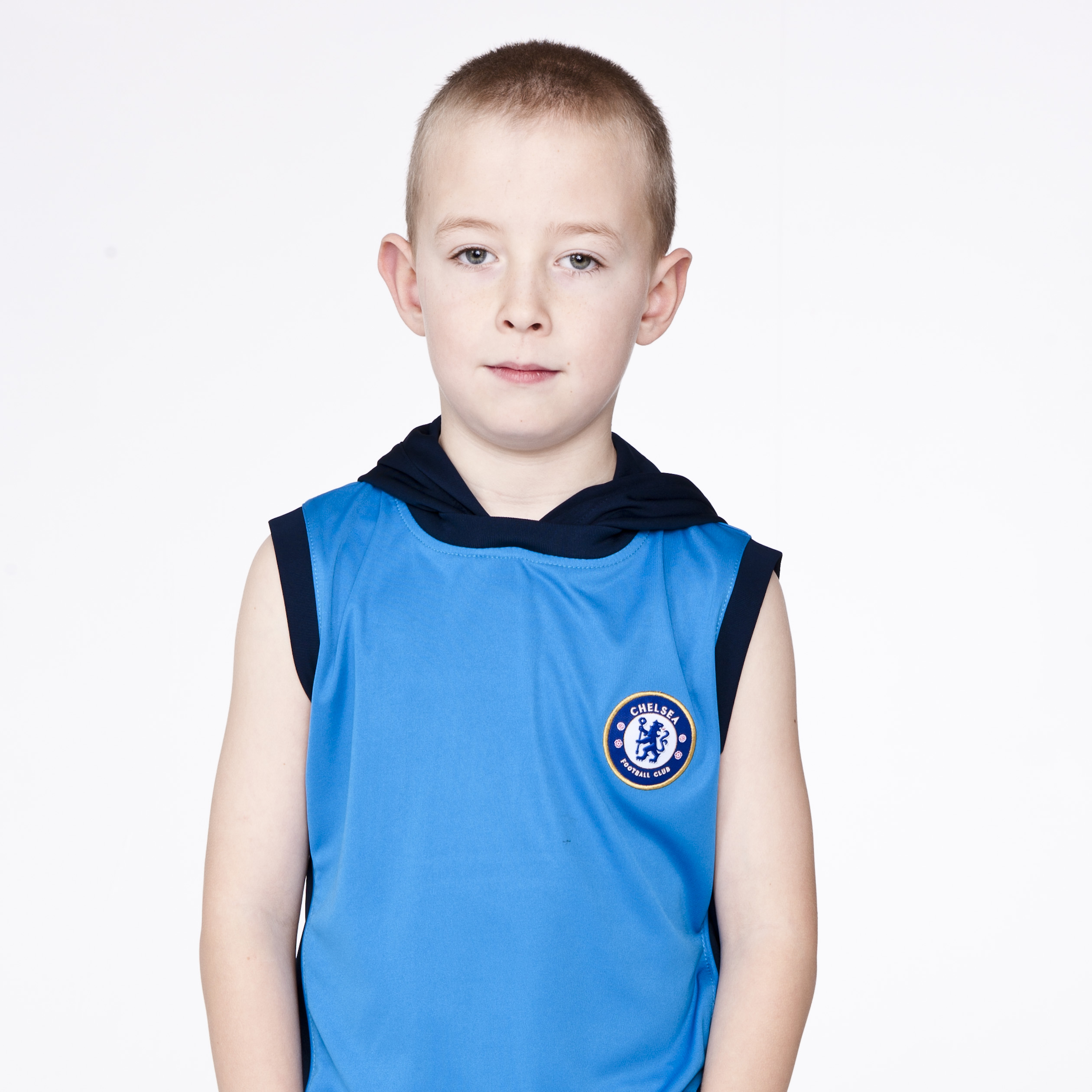 Chelsea Core Poly Hooded Sleeveless Top - Brilliant Blue - Boys