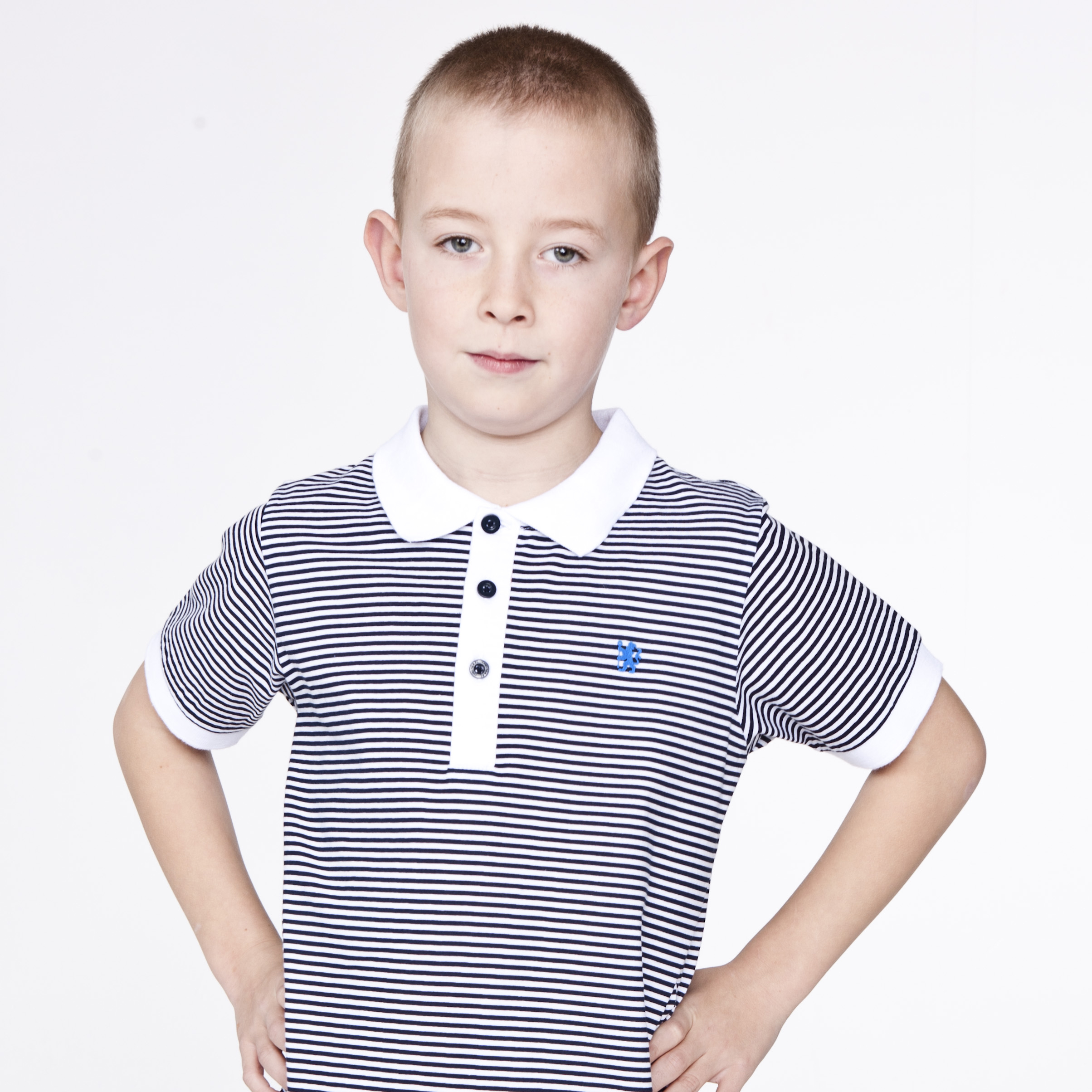 Chelsea Fashion Pin Striped Polo - Navy/White - Boys