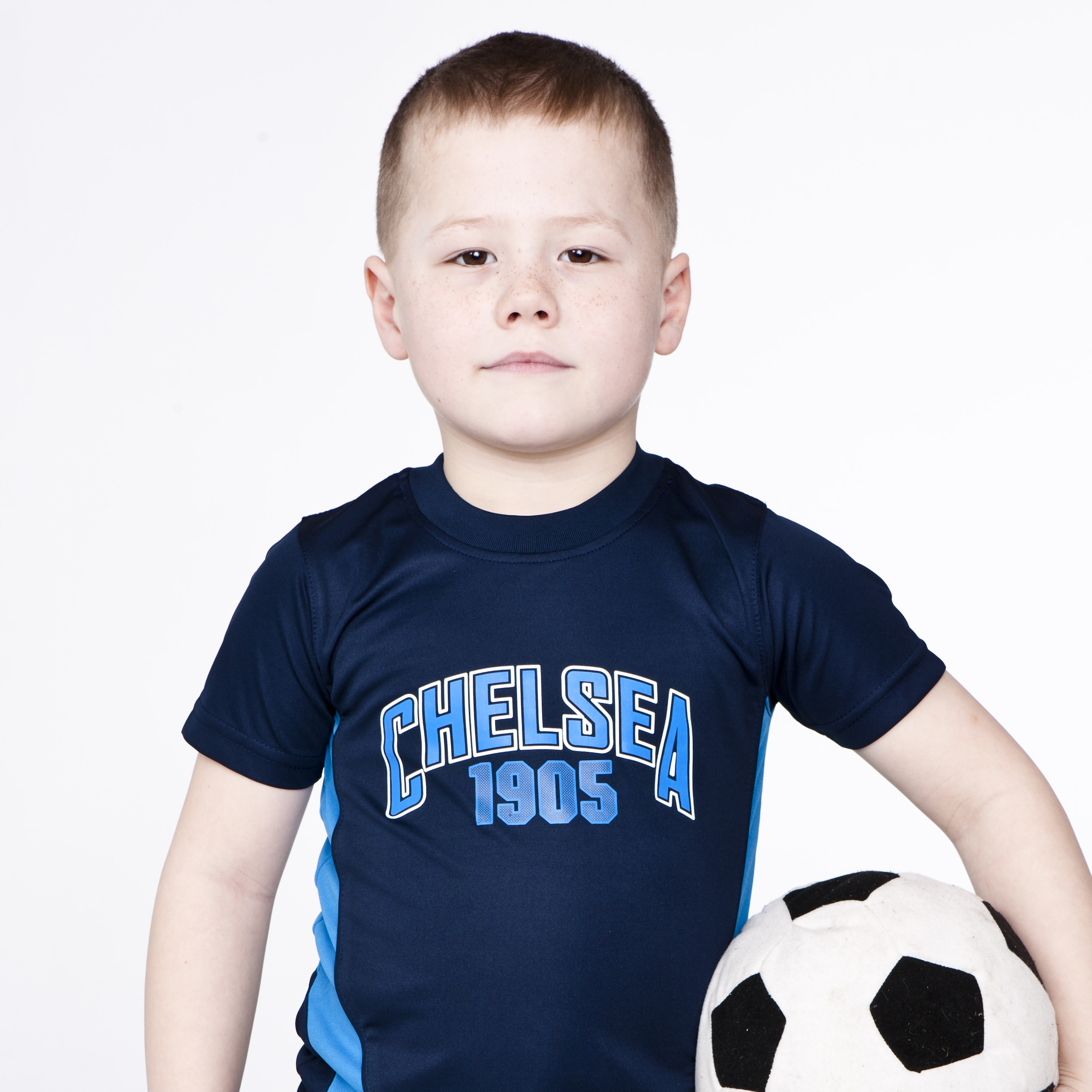 Chelsea Core Poly Panel 1905 Graphic T-Shirt - Light Navy - Infant Boys