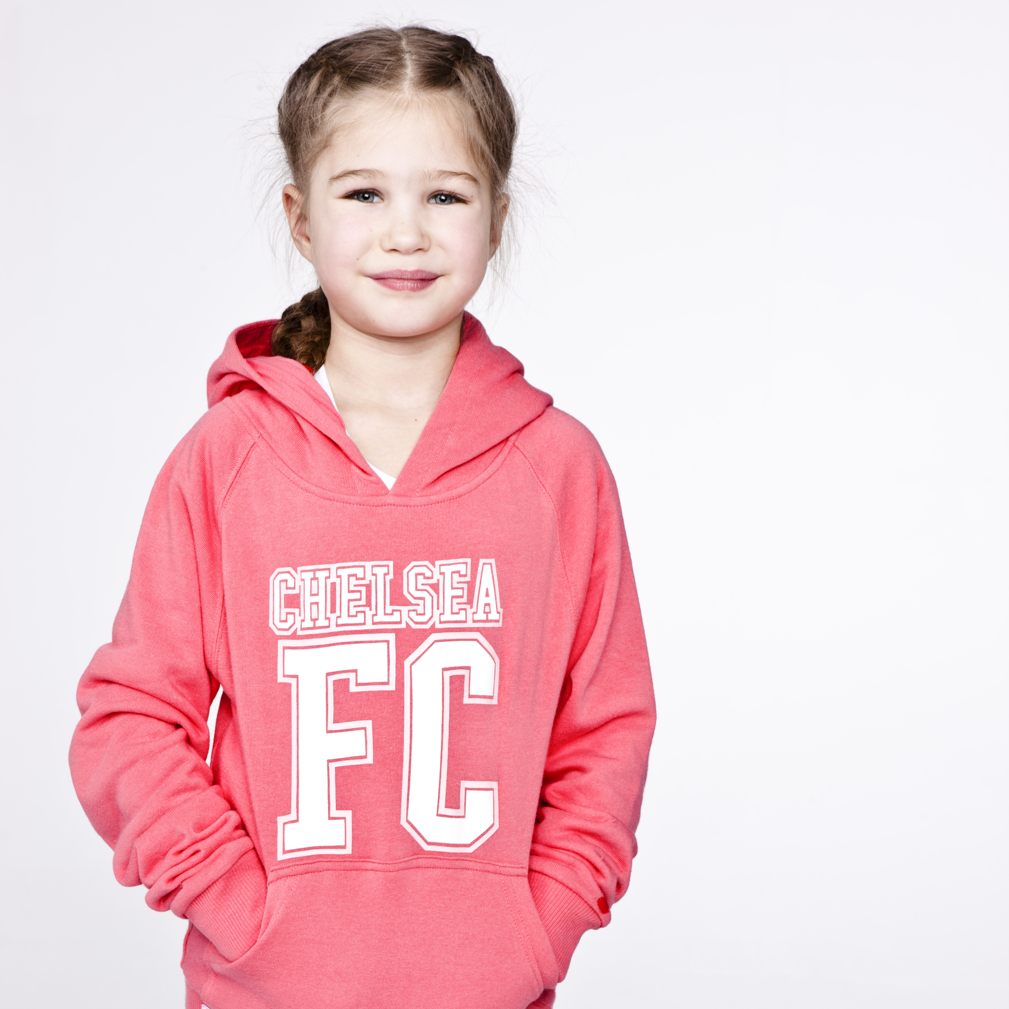 Chelsea FC Fleece Hoody - Blush Pink - Girls