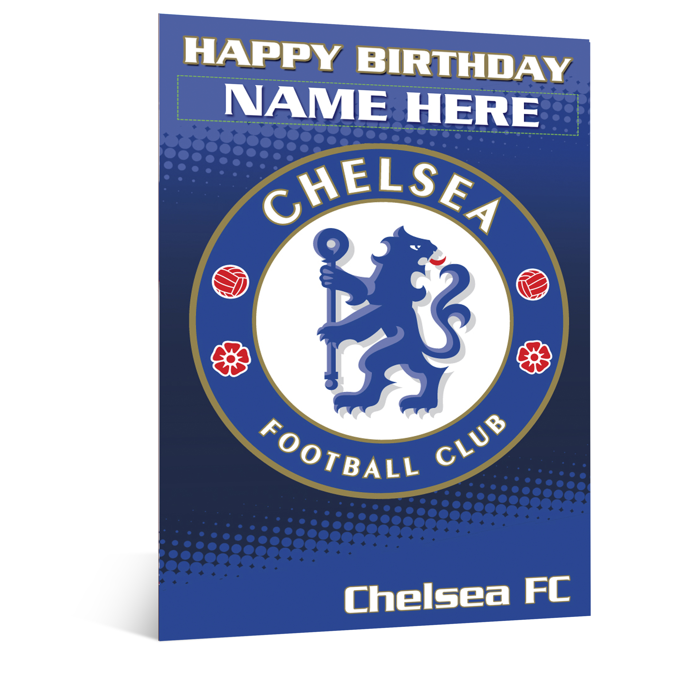 Chelsea Personalised Happy Birthday Card - Crest