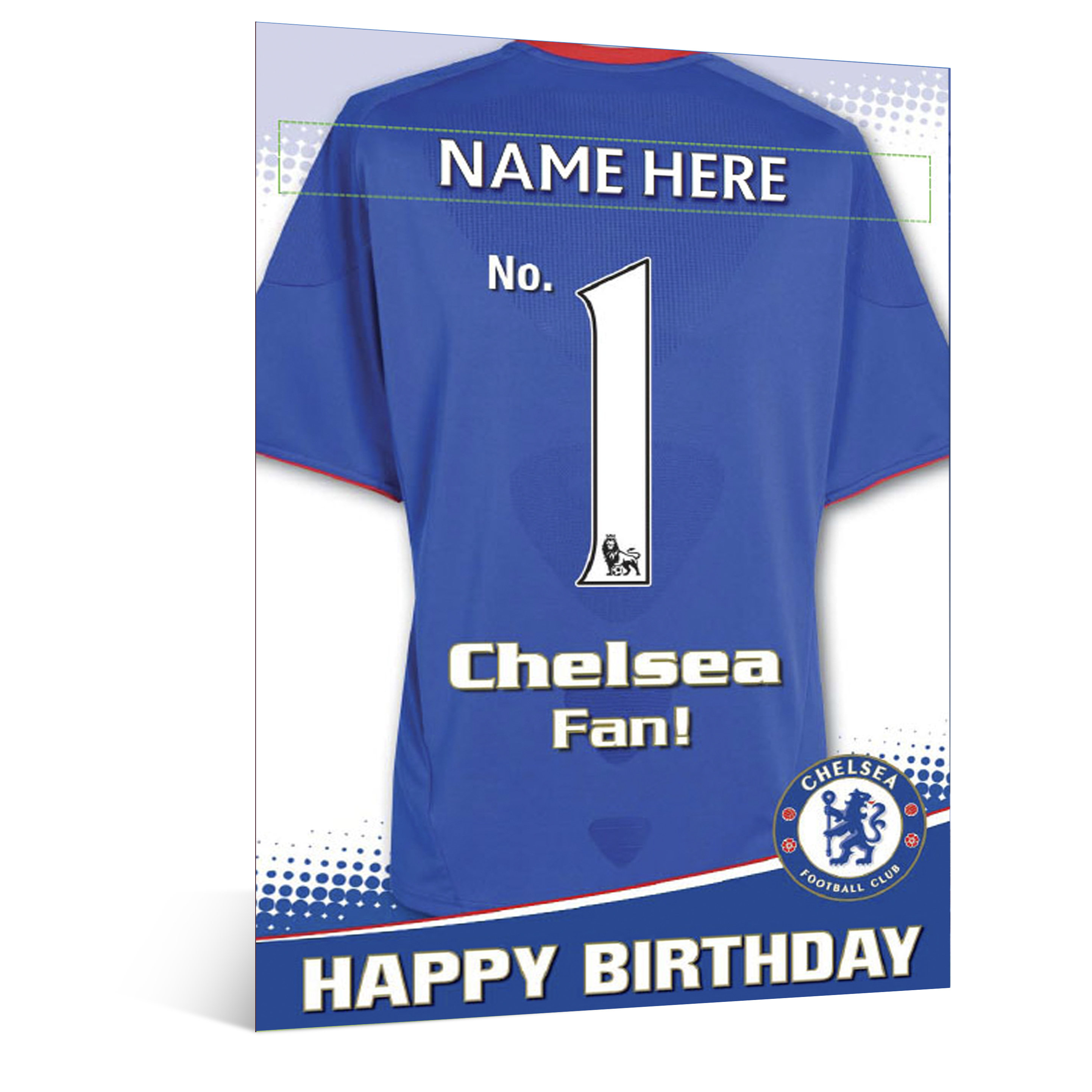 Chelsea Personalised Happy Birthday Card - No 1 Fan