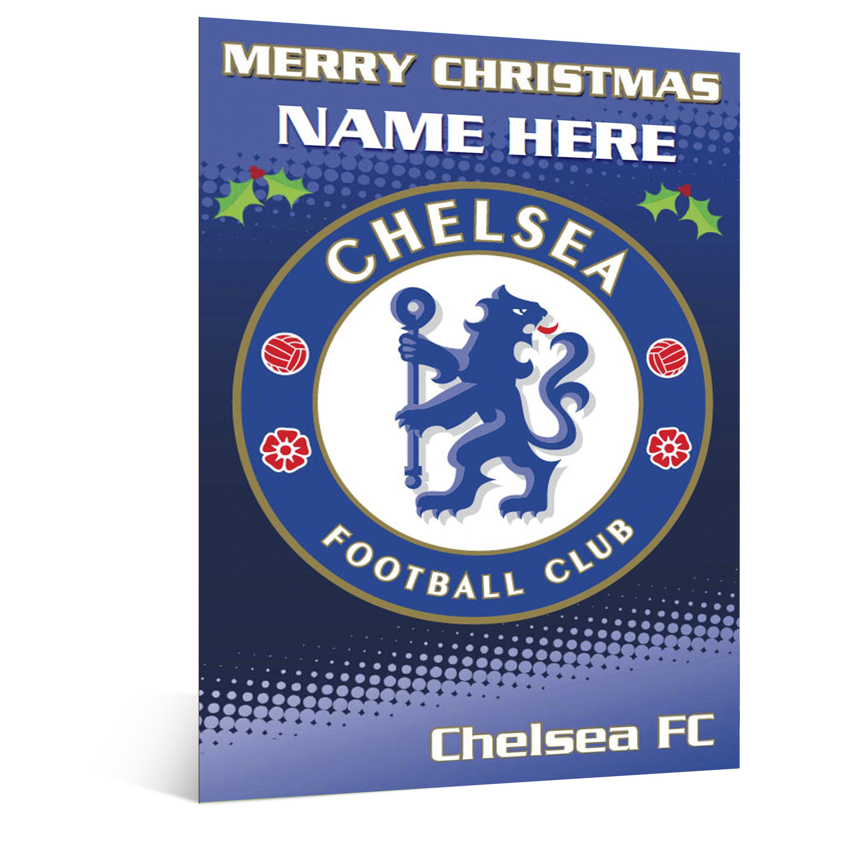Chelsea Personalised Christmas Card