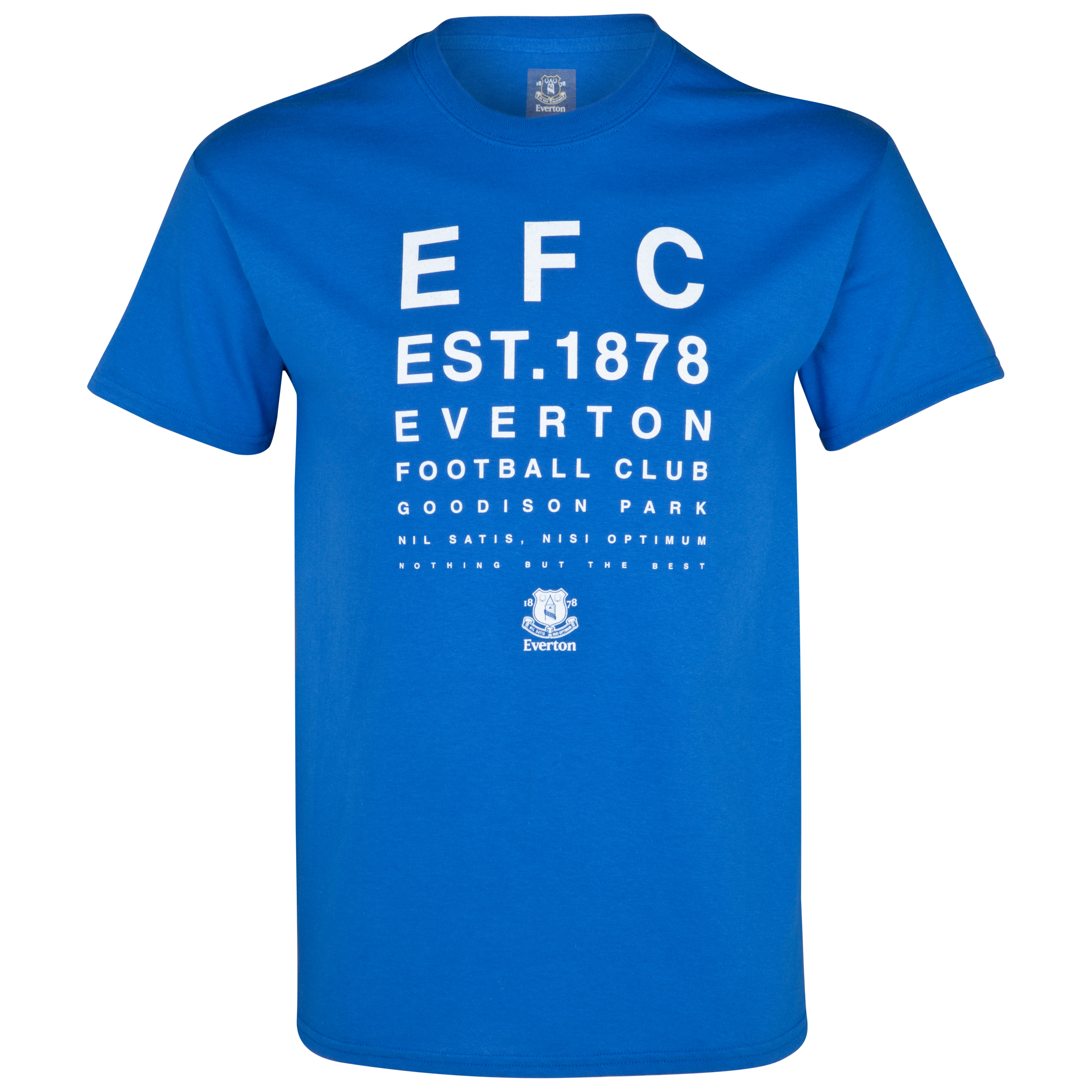 Everton 2for£20 Test Card T-Shirt - Royal