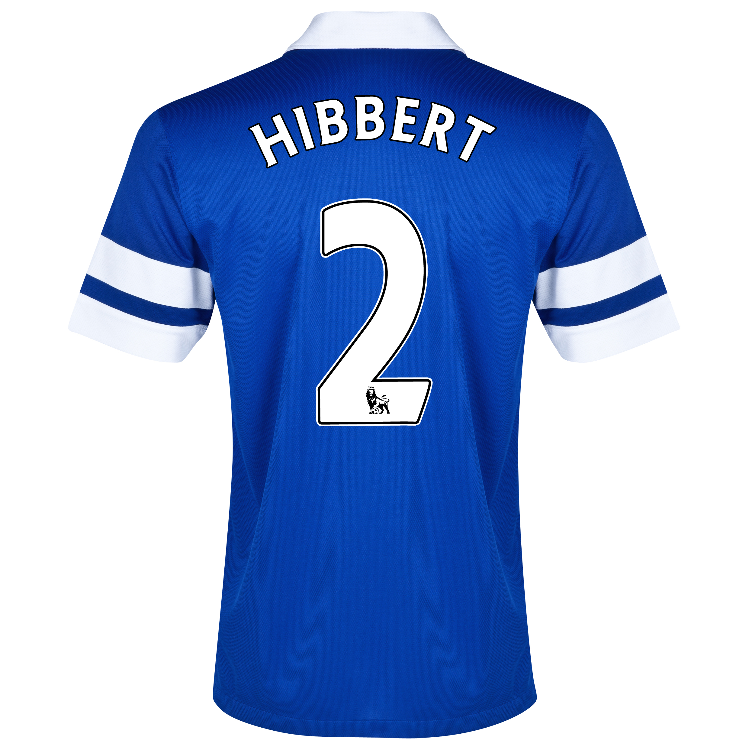 Everton Home Shirt 2013/14 Blue with Hibbert 2 printing