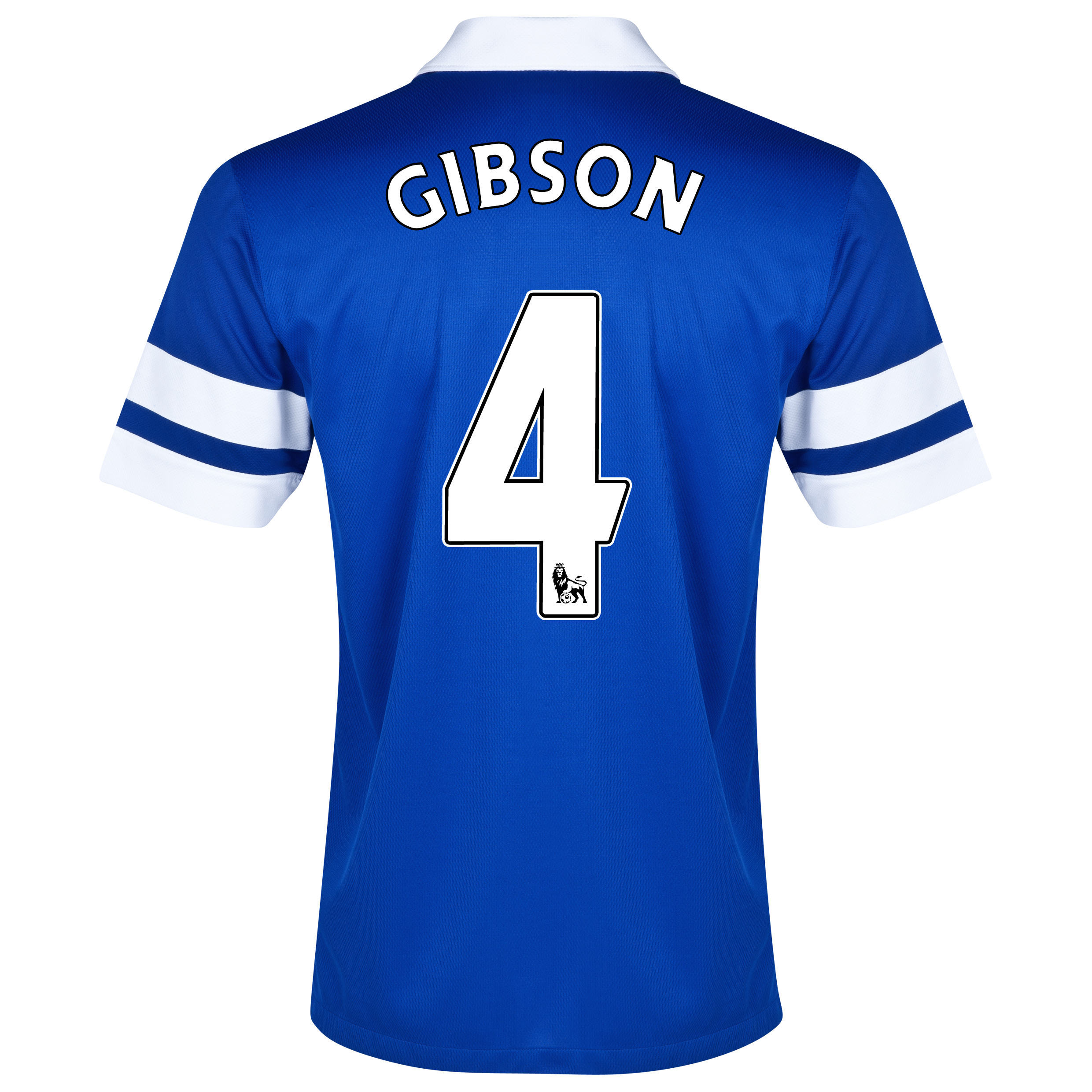 Everton Home Shirt 2013/14 Blue with Gibson 4 printing