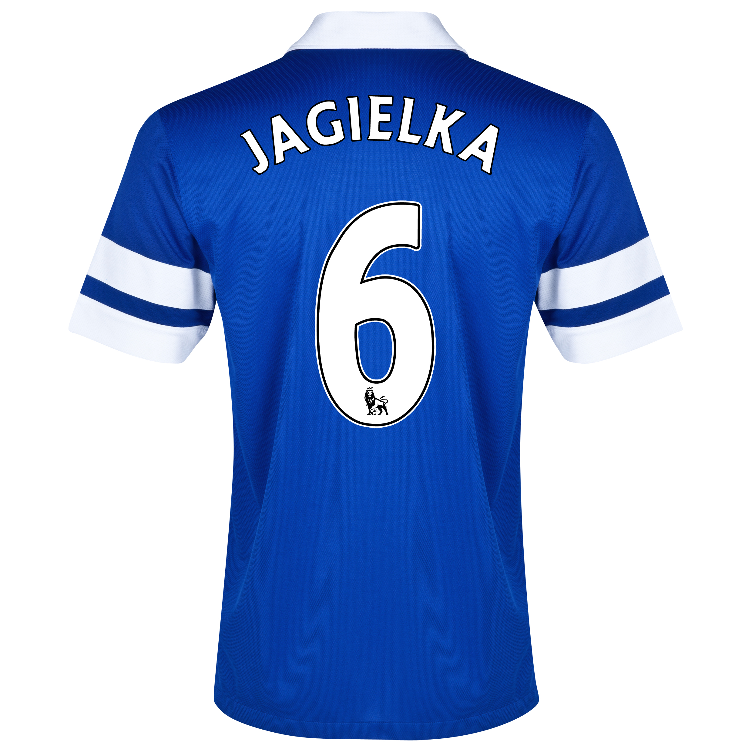 Everton Home Shirt 2013/14 Blue with Jagielka 6 printing