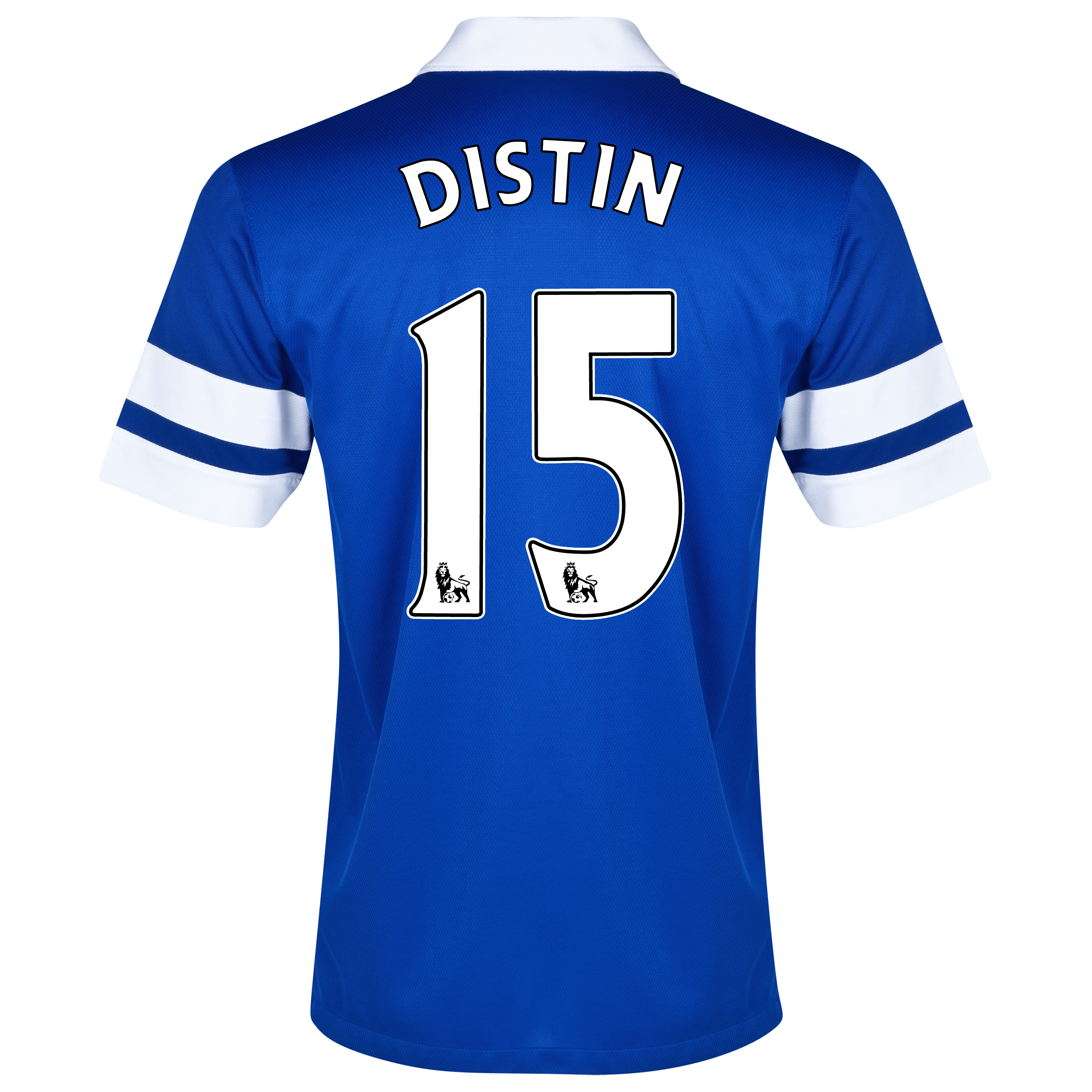 Everton Home Shirt 2013/14 Blue with Distin 15 printing