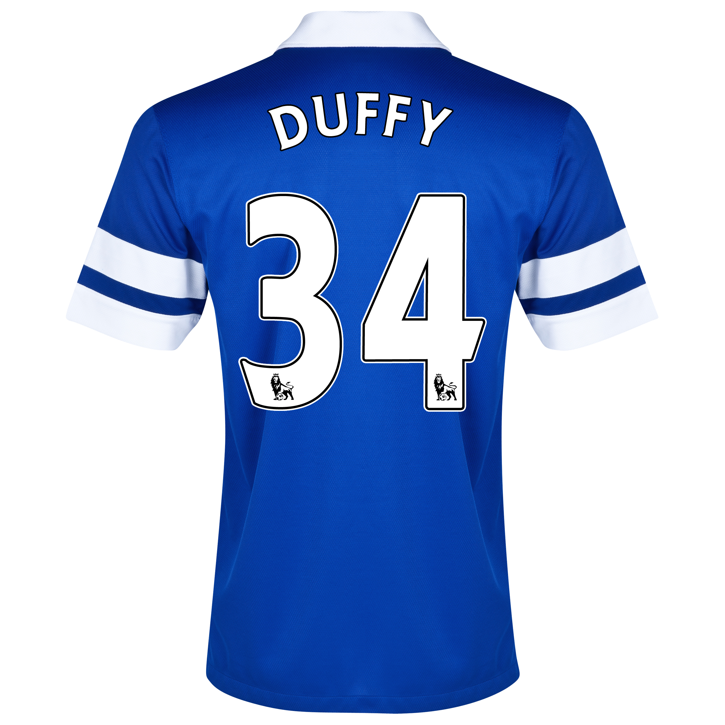 Everton Home Shirt 2013/14 Blue with Duffy 34 printing