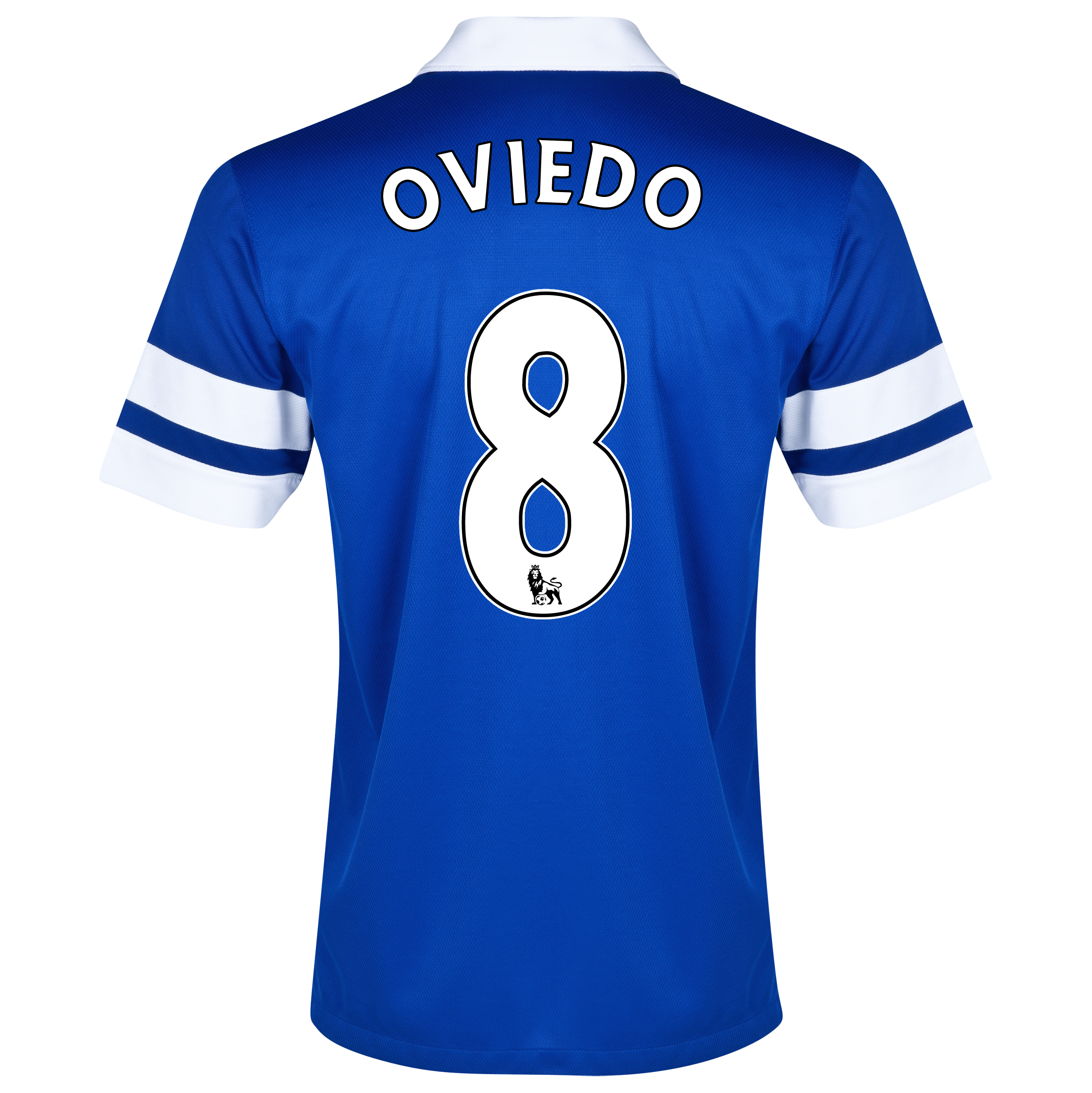 Everton Home Shirt 2013/14 - Junior Blue with Oviedo 8 printing