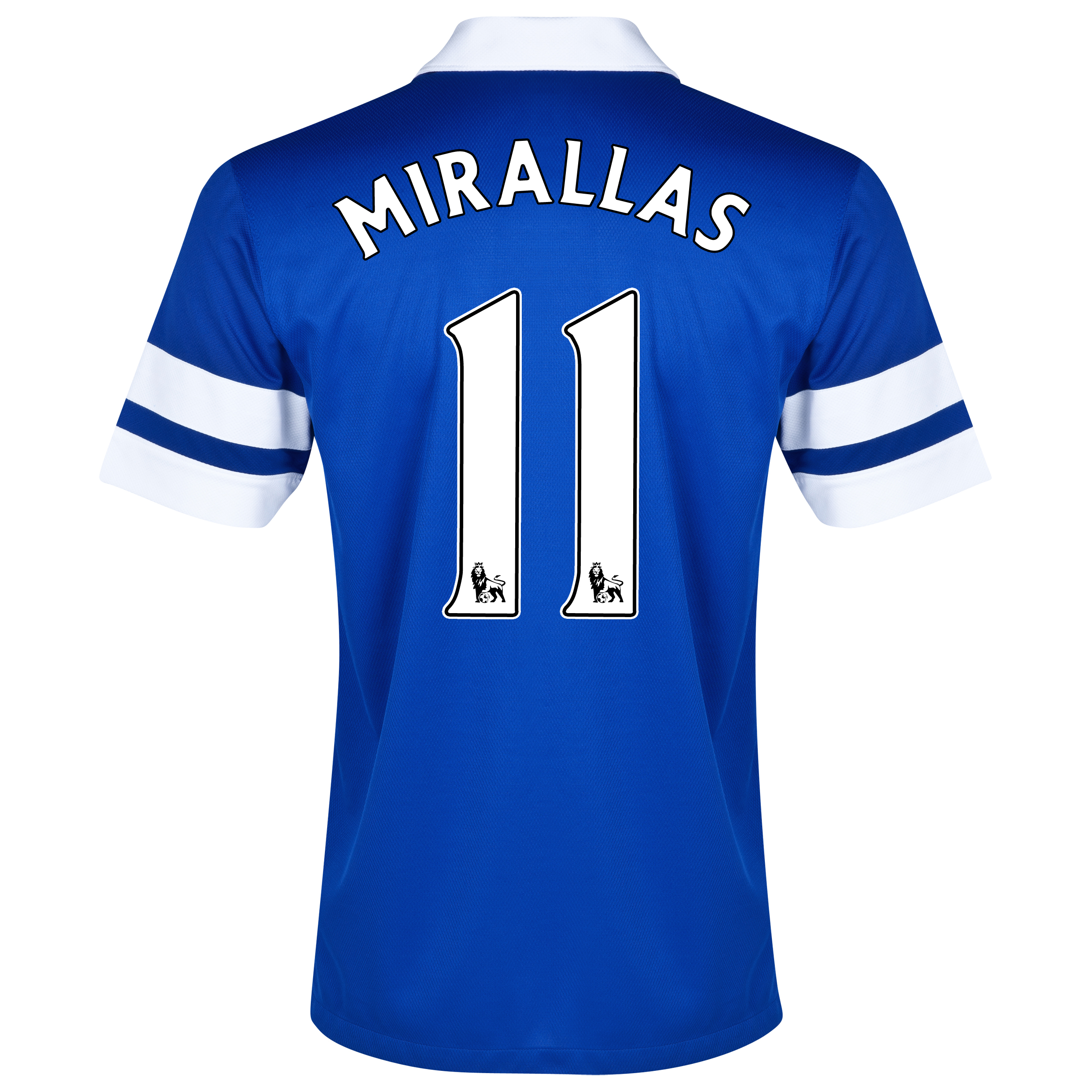 Everton Home Shirt 2013/14 - Junior Blue with Mirallas 11 printing