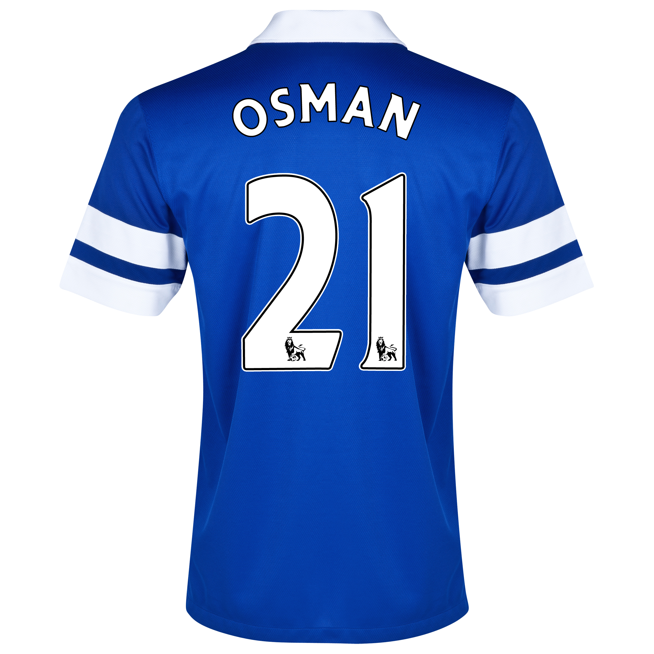 Everton Home Shirt 2013/14 - Junior Blue with Osman 21 printing
