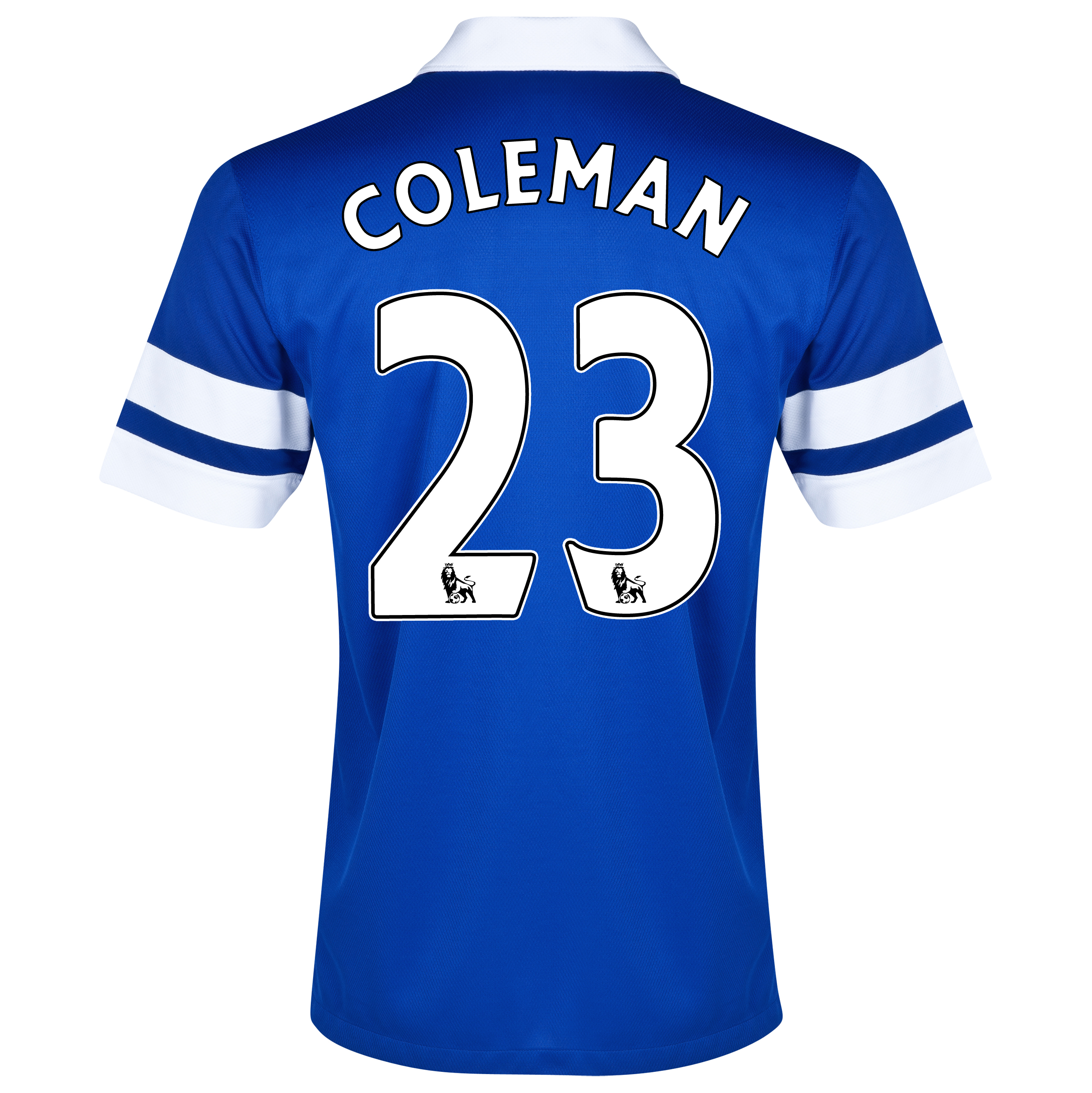 Everton Home Shirt 2013/14 - Junior Blue with Coleman 23 printing