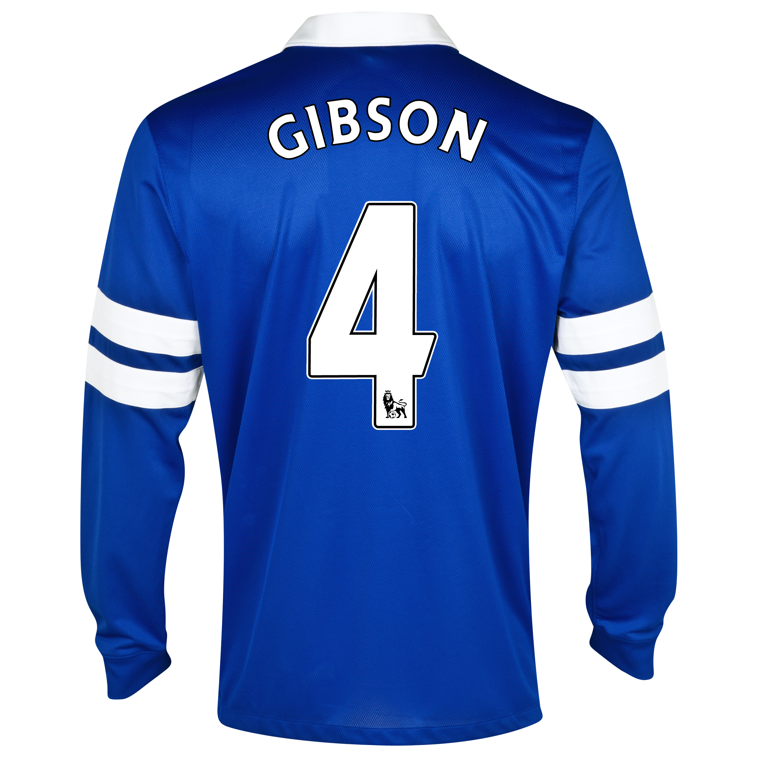 Everton Home Shirt 2013/14 - Junior - Long Sleeved Blue with Gibson 4 printing