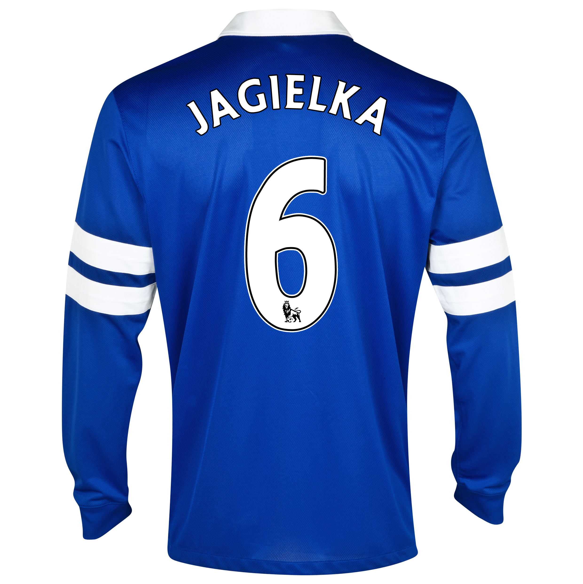 Everton Home Shirt 2013/14 - Junior - Long Sleeved Blue with Jagielka 6 printing