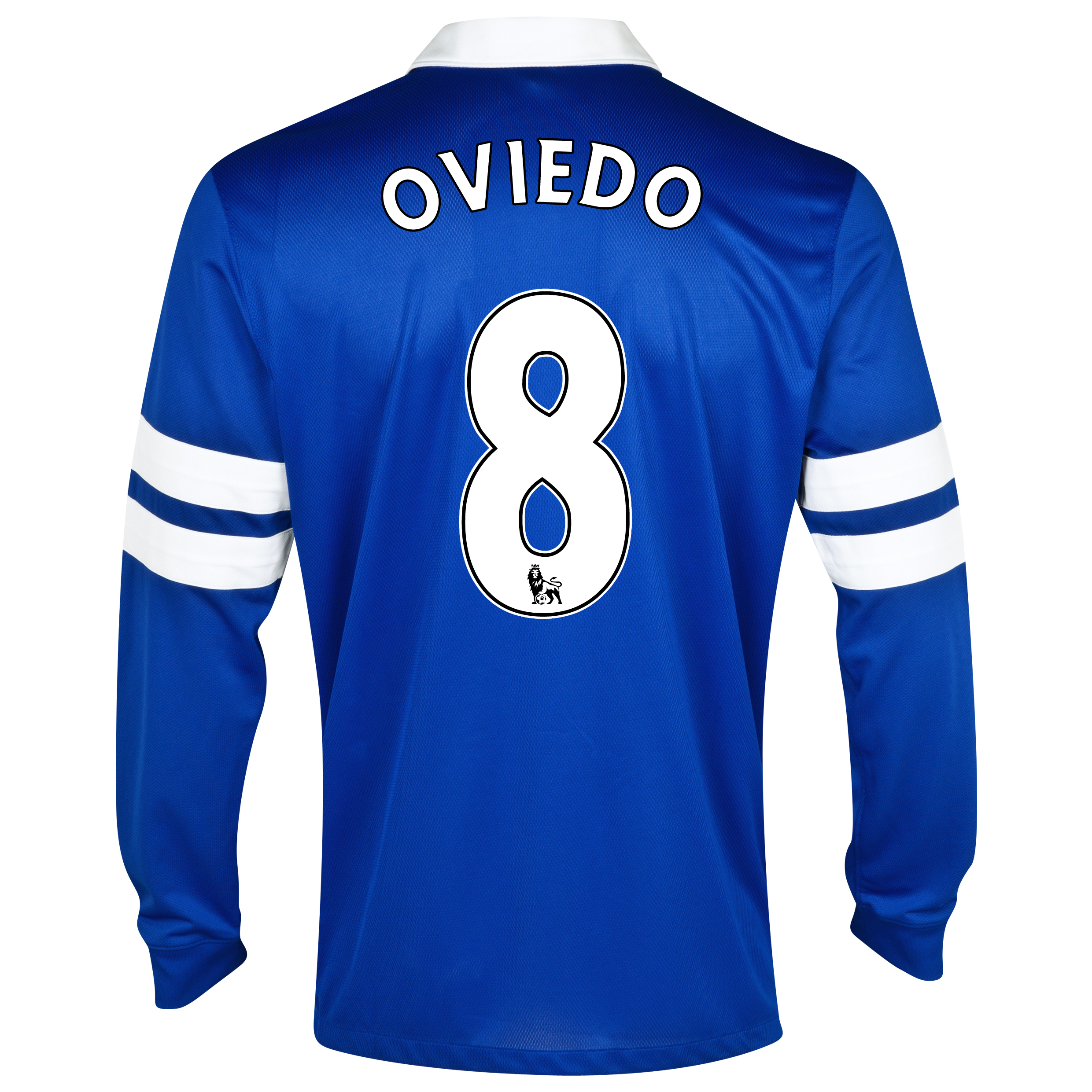 Everton Home Shirt 2013/14 - Junior - Long Sleeved Blue with Oviedo 8 printing