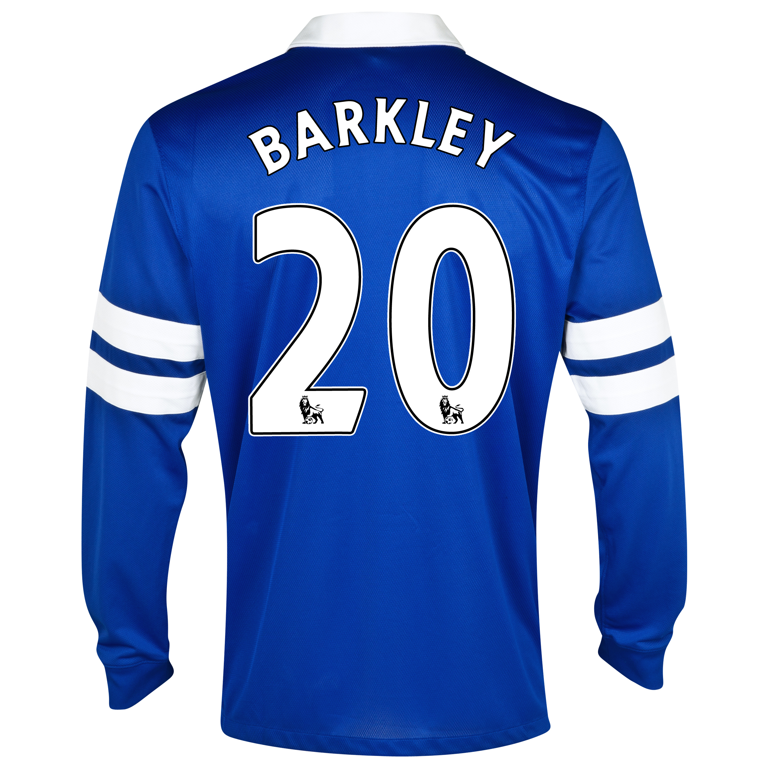 Everton Home Shirt 2013/14 - Junior - Long Sleeved Blue with Barkley 20 printing